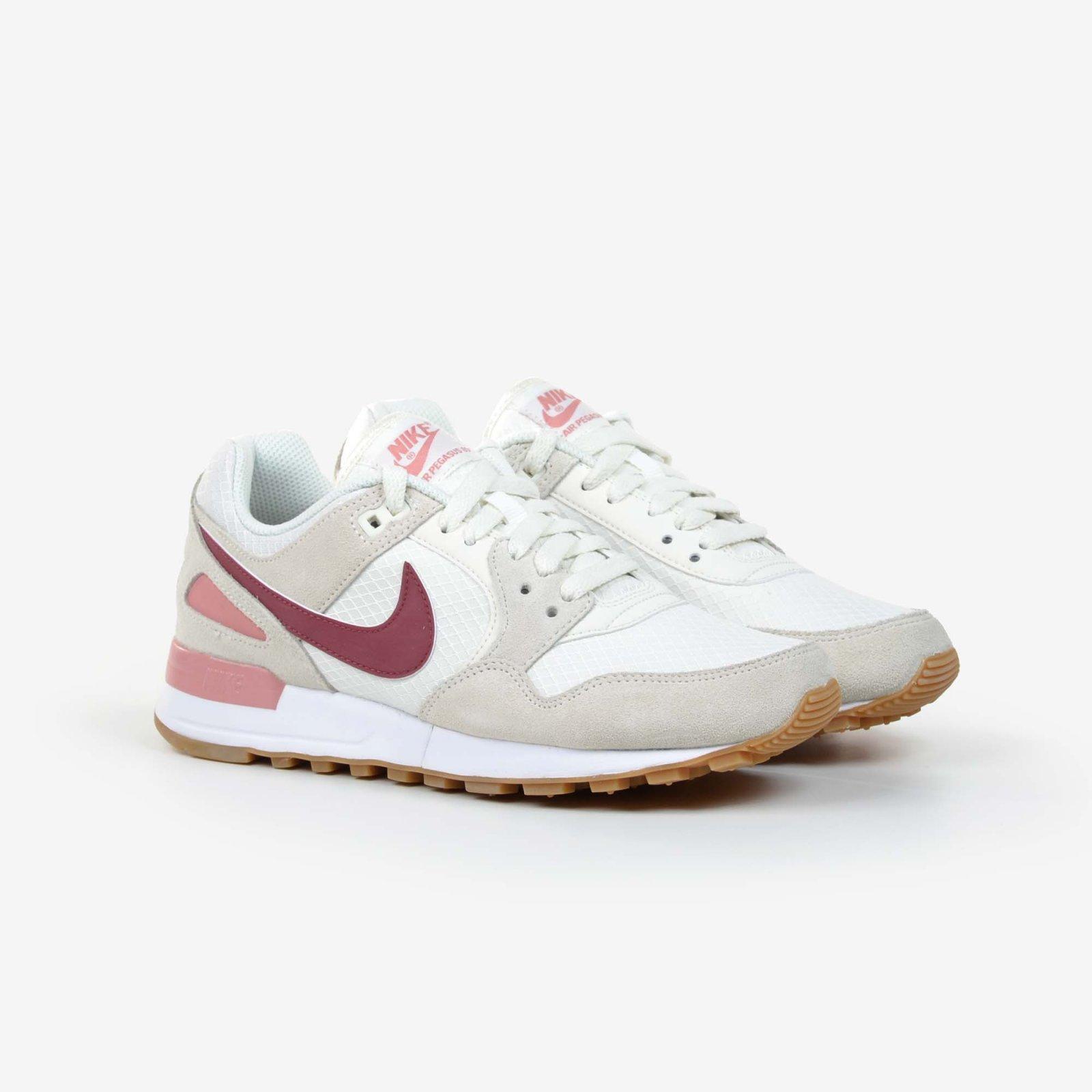 best service 6733e b6233 Nike Women s Air Pegasus 89 Vintage Sail Red Suede Running Shoes NIB ...