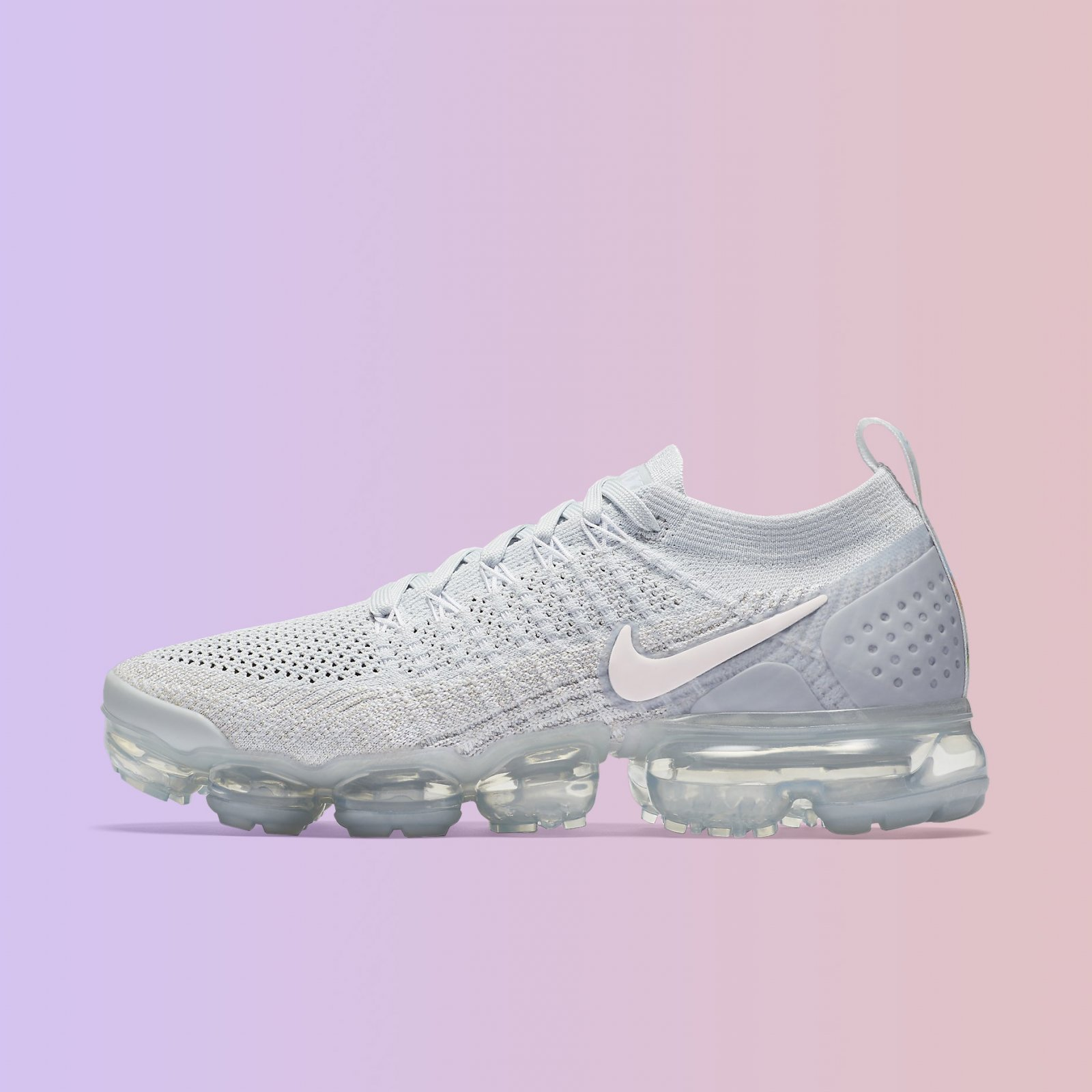 huge discount d49ce 78e3f Details about Nike Women's Air VaporMax Flyknit 2 Pure Platinum Pink White  Running 942843-011