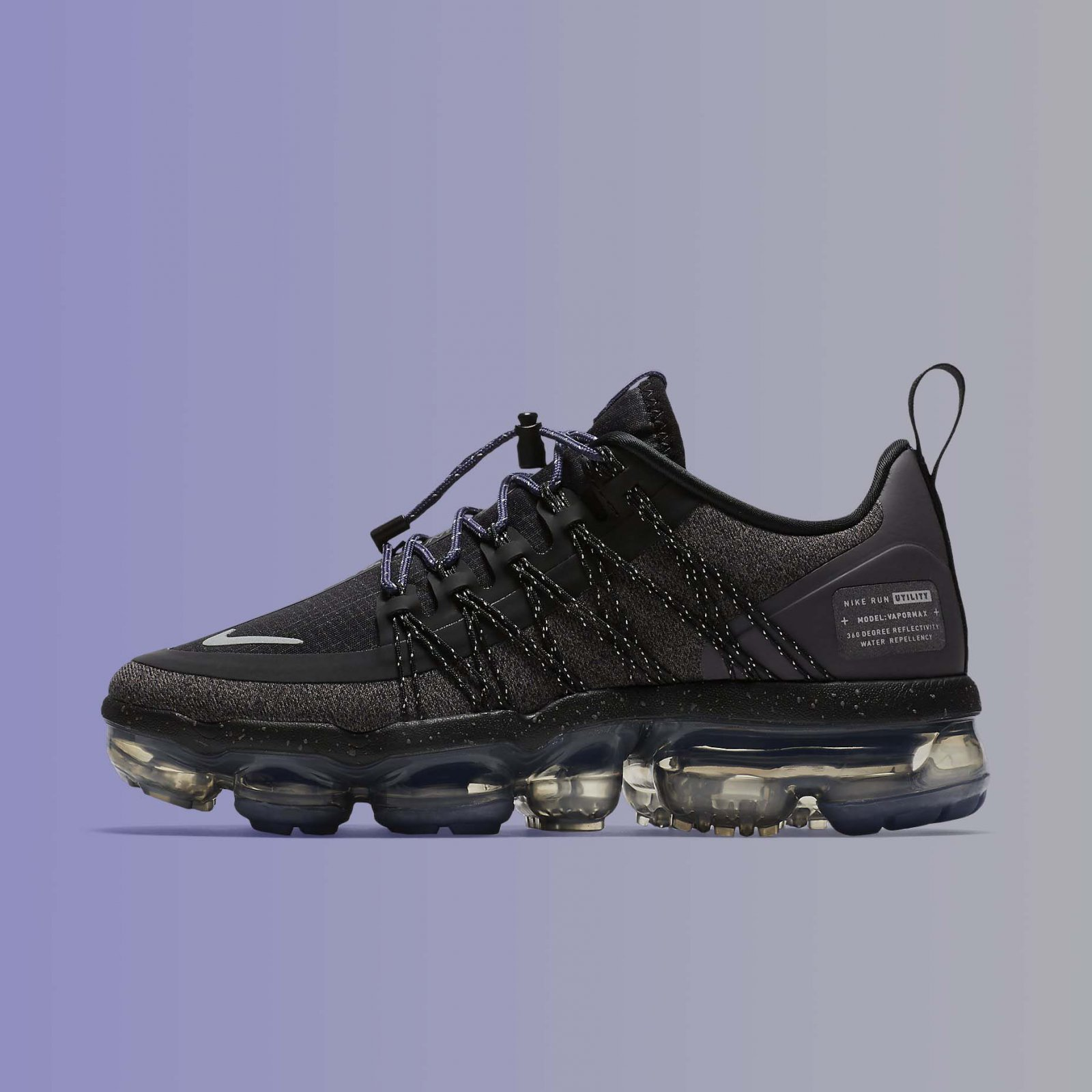 sports shoes 97864 91734 Details about Nike Women's Air VaporMax Run Utility Black Reflect Silver  Running AQ8811-001