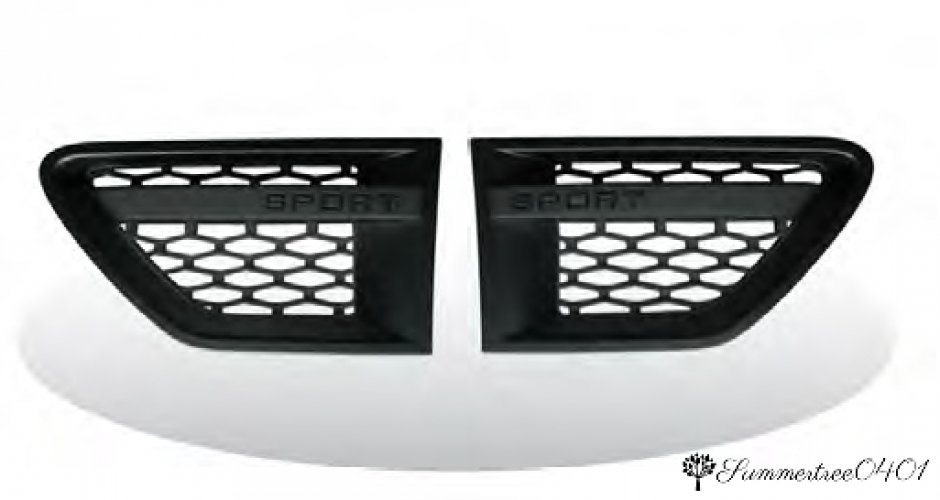 Gloss Black Grille and Side Vents with Silver Mesh for Range Rover Sport 05-09