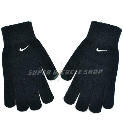 Nike Winter Gloves: NIKE Knit Swoosh Logo Winter Long Finger Warm Glove , Black