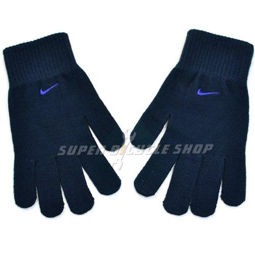 Nike Winter Gloves: NIKE Knit Swoosh Logo Winter Long Finger Warm Glove , Navy