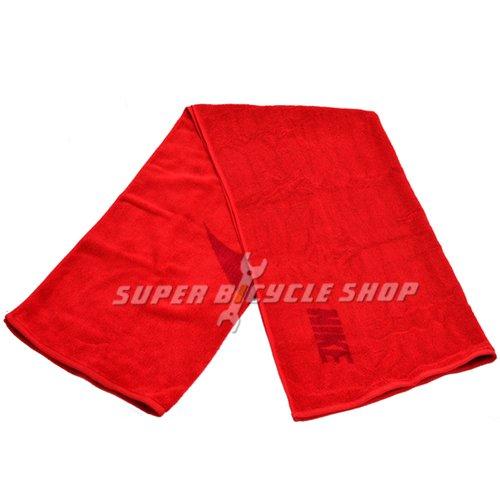 Nike Training Cool Towel: NIKE Swoosh Jacquard Workout Cotton Towel 60x120cm , Red