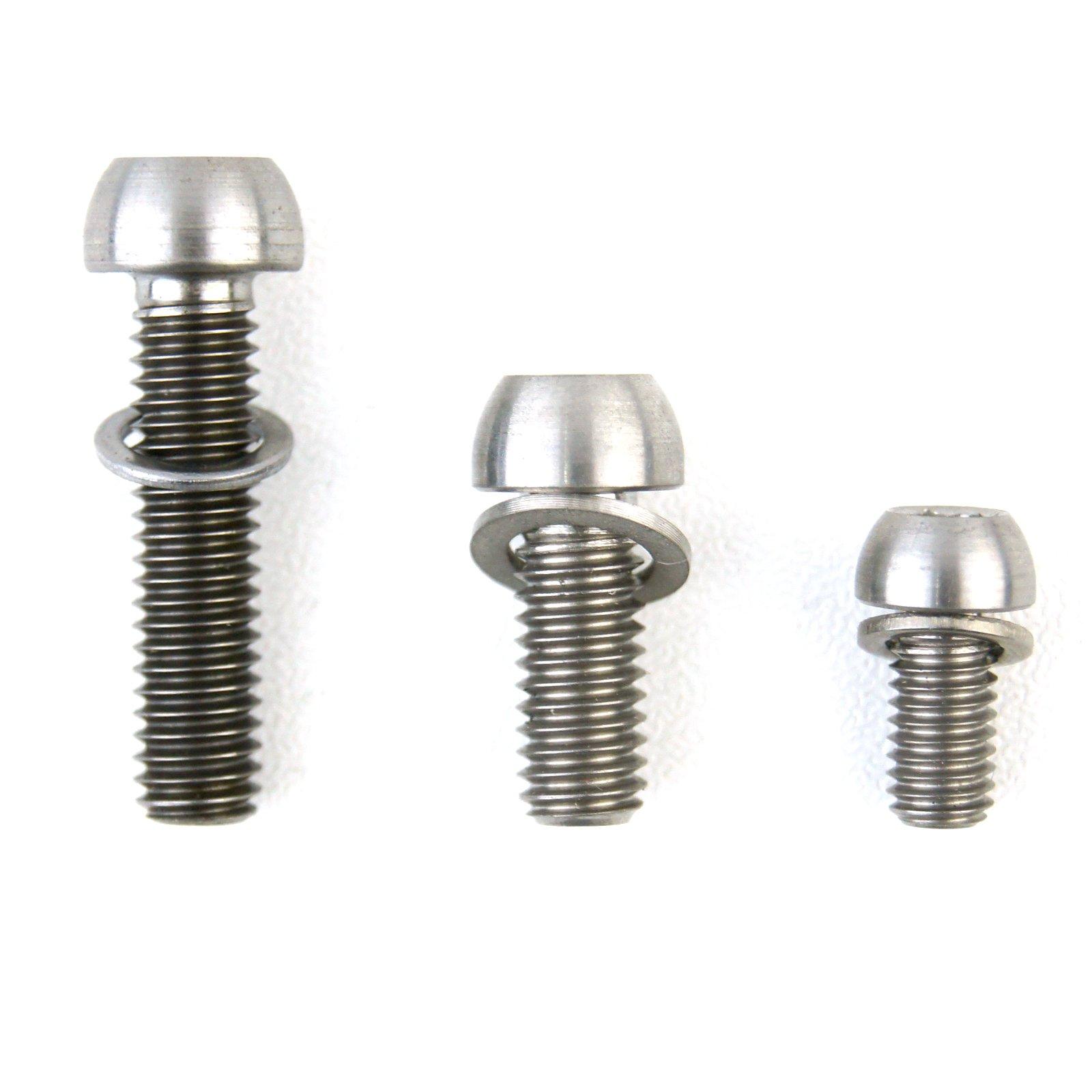 Brand New 2 Pcs Titanium Allen Washer Hex Water Bottle Cage Bolts M5x12 Screws