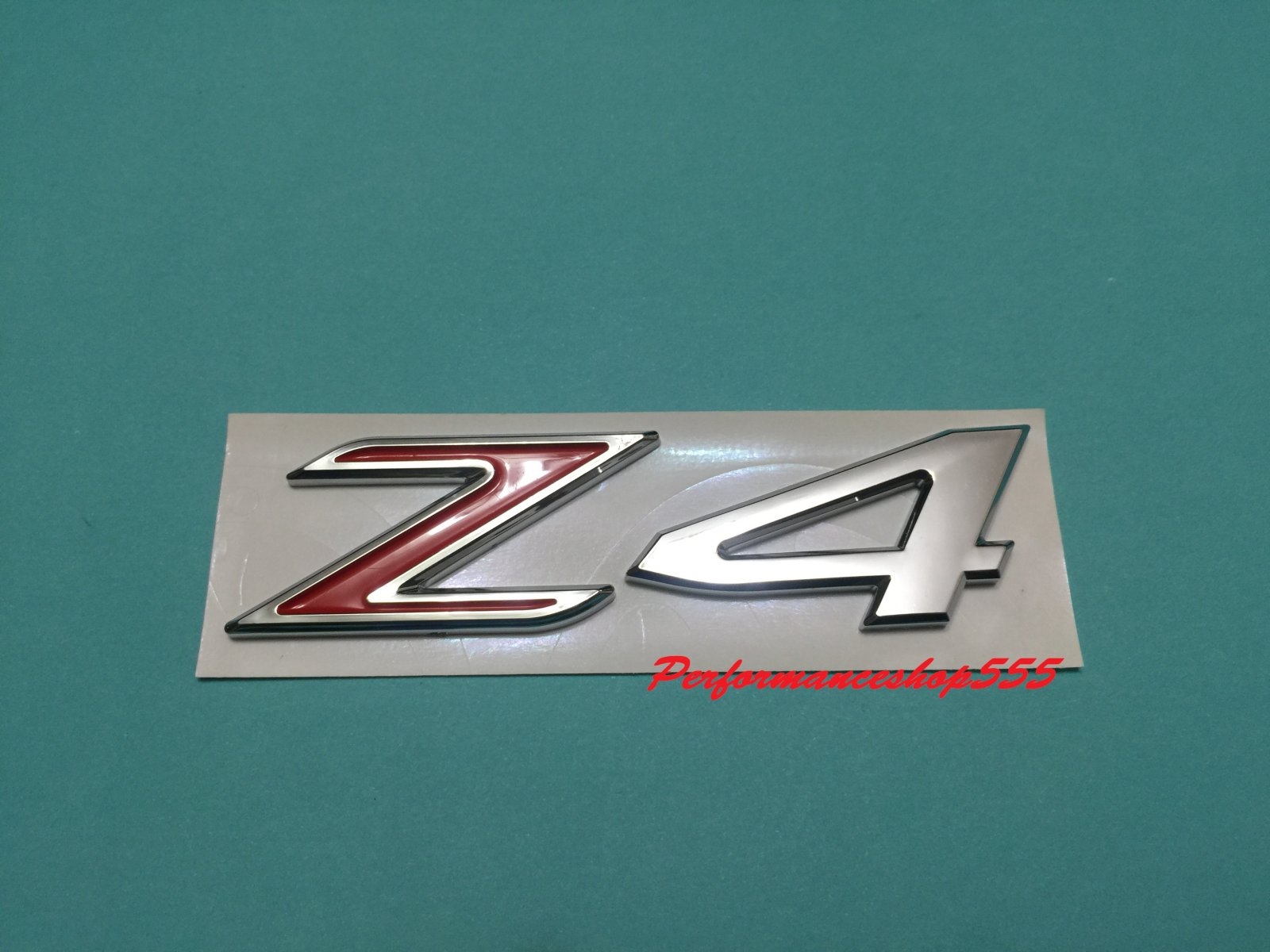 Trunk Lid Rear Emblem Badge Chrome Letters Z4 Red Bmw E85