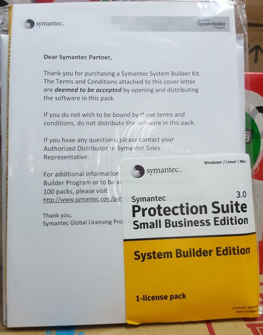 Details about Symantec Protection Suite3 0 Small Business System Builder  Edition1 License Pack
