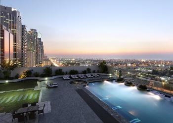 Swimming Pool - Evening View