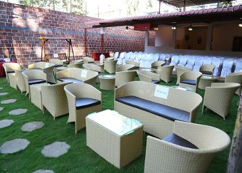 Lawn with seating