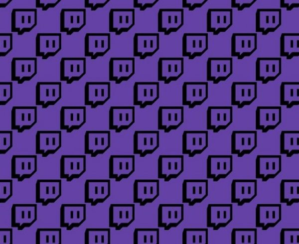 Twitch logo background