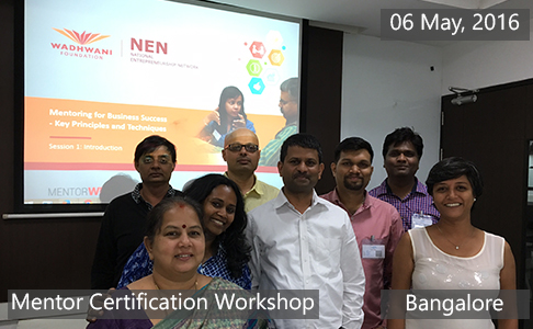 Mentor Certification Workshop May 06th, 2016 Bangalore