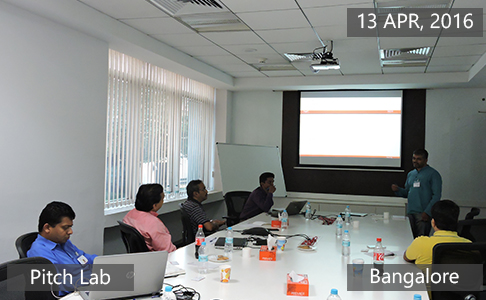 Pitch Lab April 13th, 2016 - Bangalore