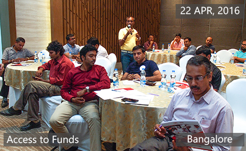 Access to Funds3 April 22th, 2016 - Bangalore