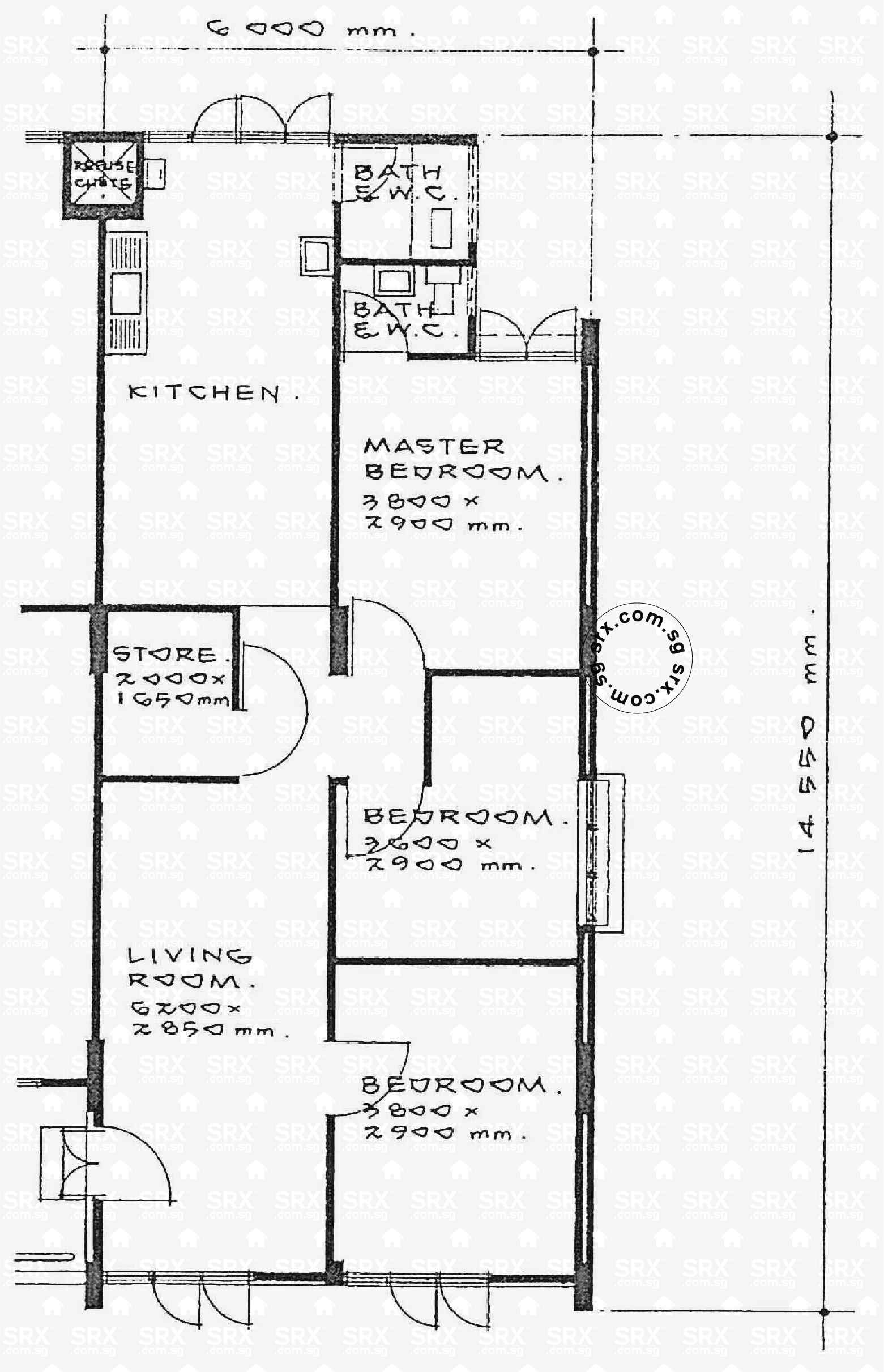 Floor plans for ang mo kio avenue 3 hdb details srx property for 02 floor plan