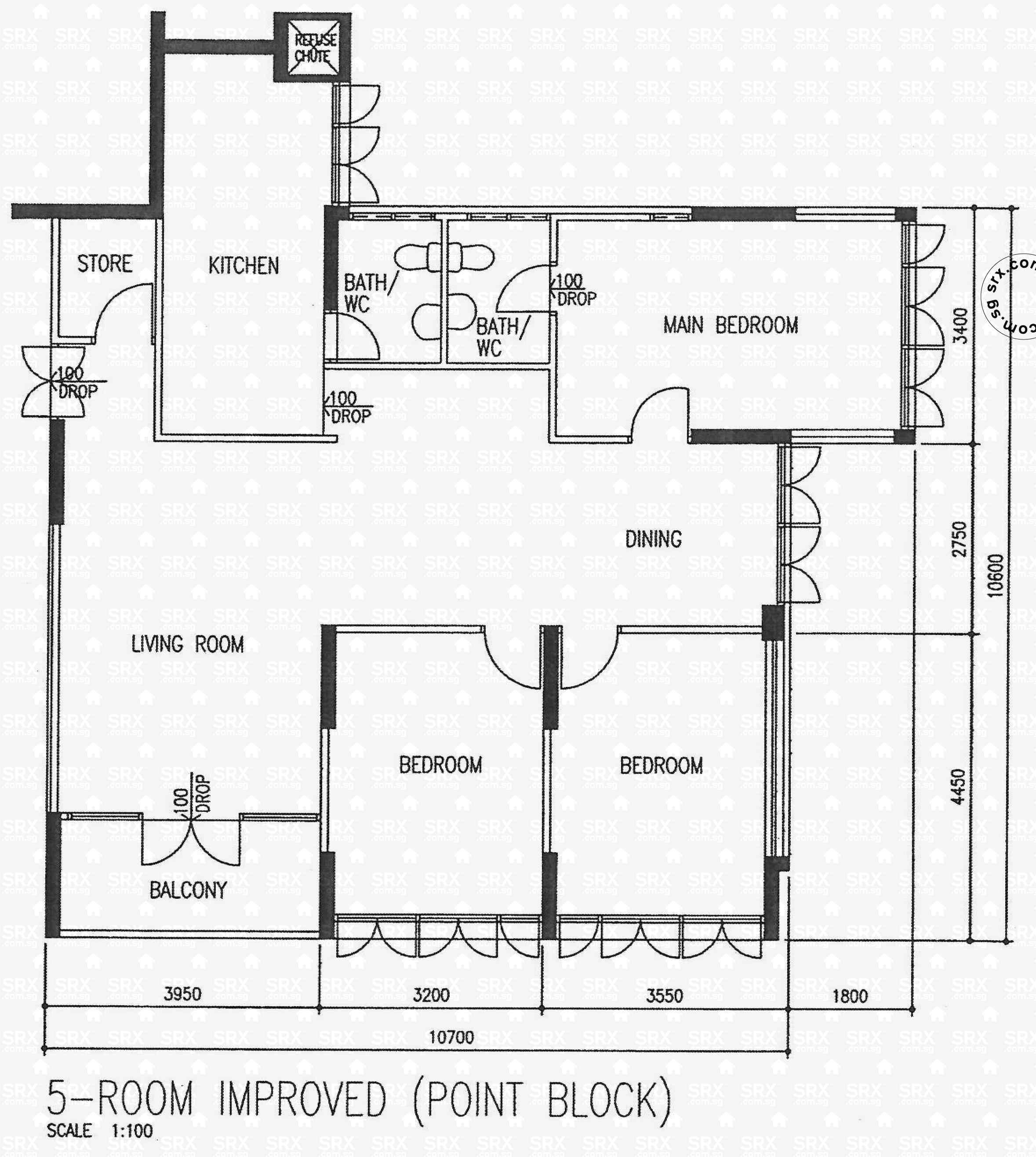Floor plans for ang mo kio avenue 10 hdb details srx for 10 shelford floor plan