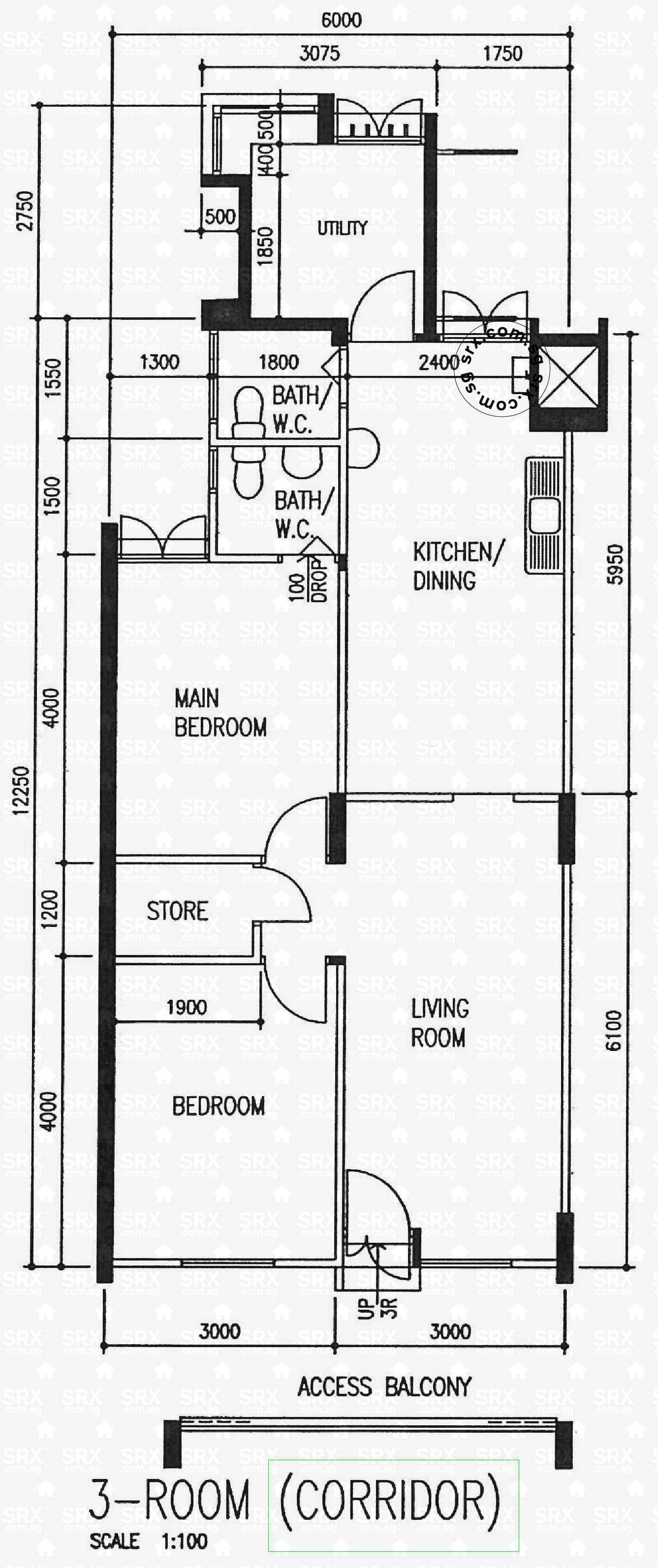 457 ang mo kio avenue 10 s 560457 hdb details srx property for 3 room flat floor plan