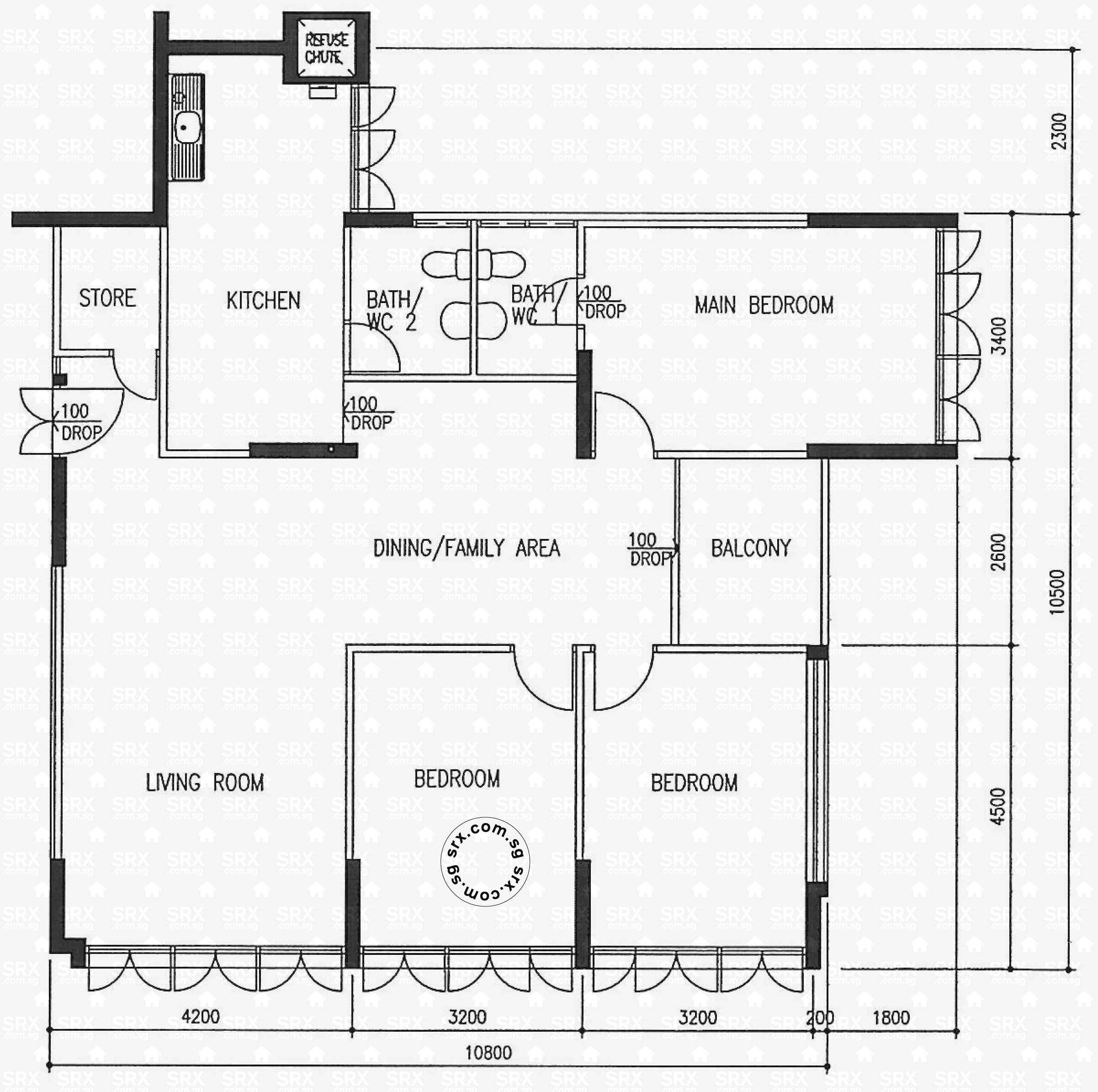 House Plan For 16 Feet By 54 Feet Plot Plot Size 96: Floor Plans For 551 Ang Mo Kio Avenue 10 (S)560551 HDB