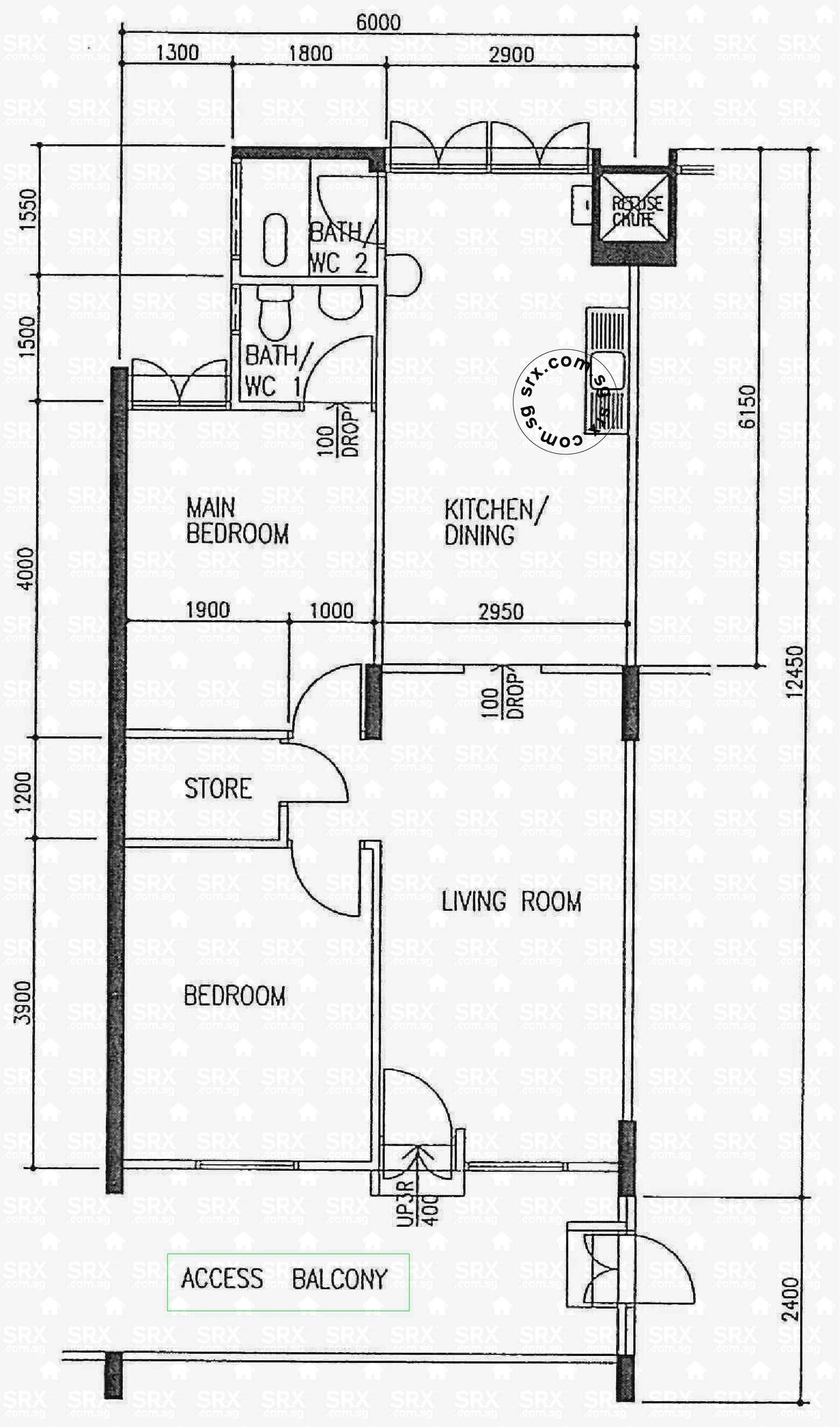 Bedok north avenue 1 hdb details srx property Floor plan view