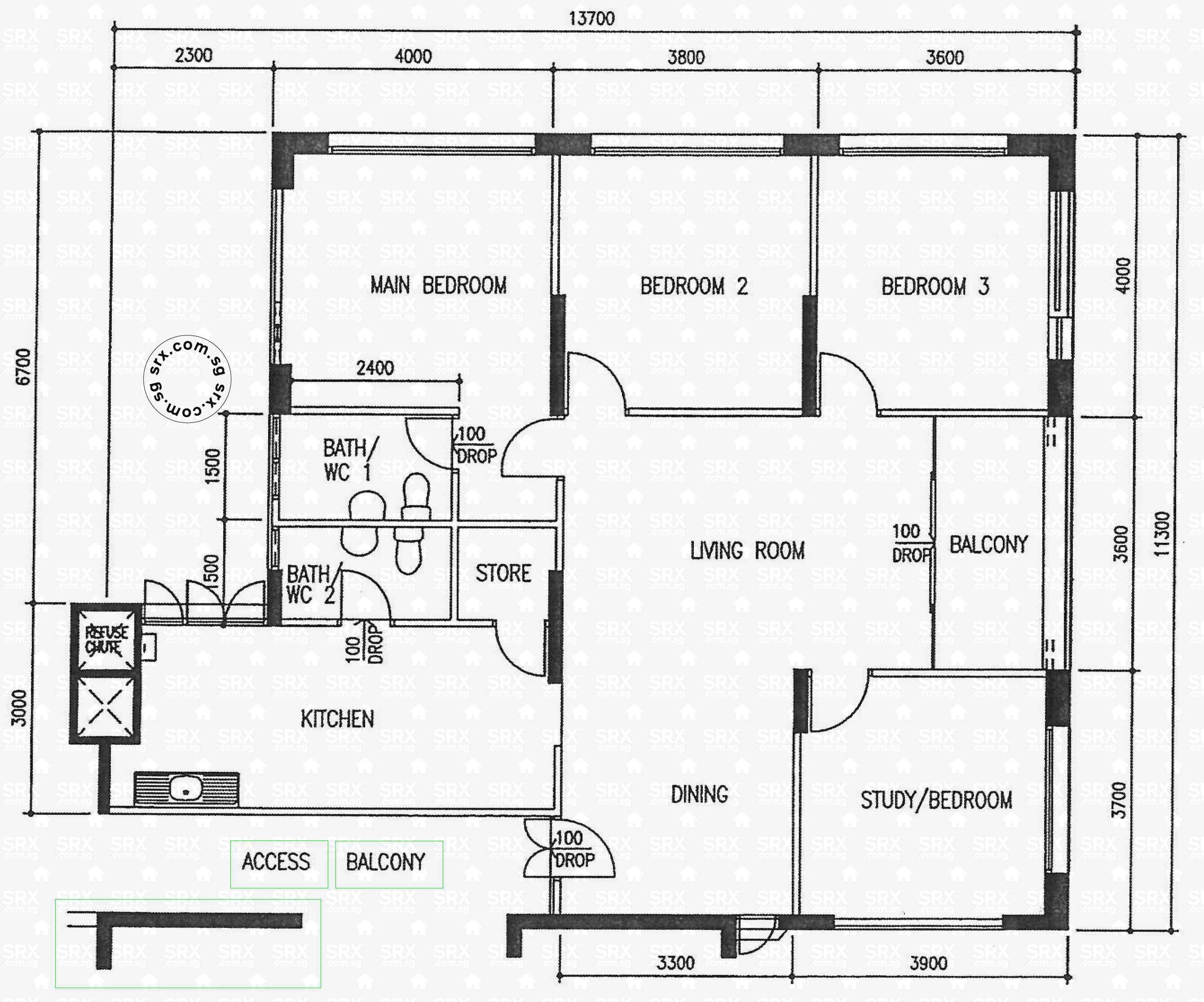 Floor plans for bishan street 13 hdb details srx property for 02 floor plan