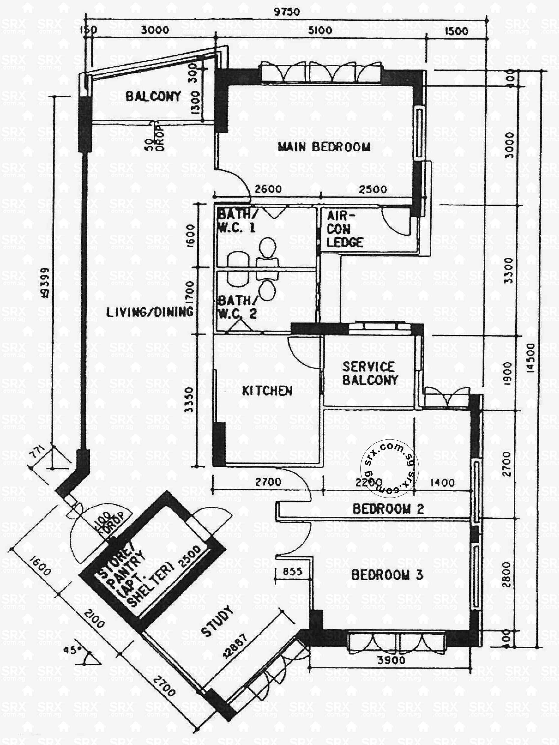 Floor plans for depot road hdb details srx property for Floor plans home depot