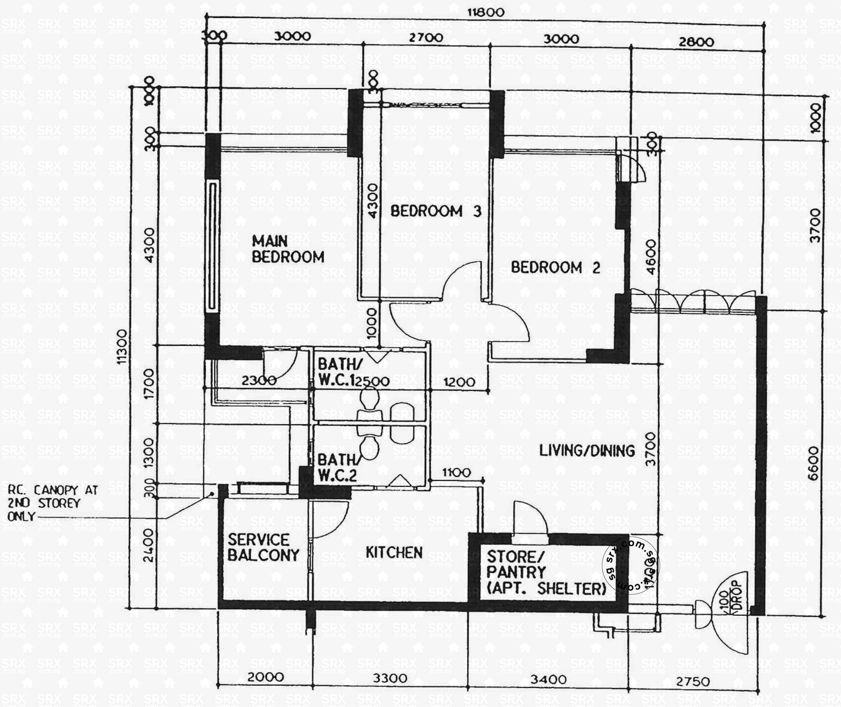Redhill close hdb details srx property for Closed kitchen floor plans