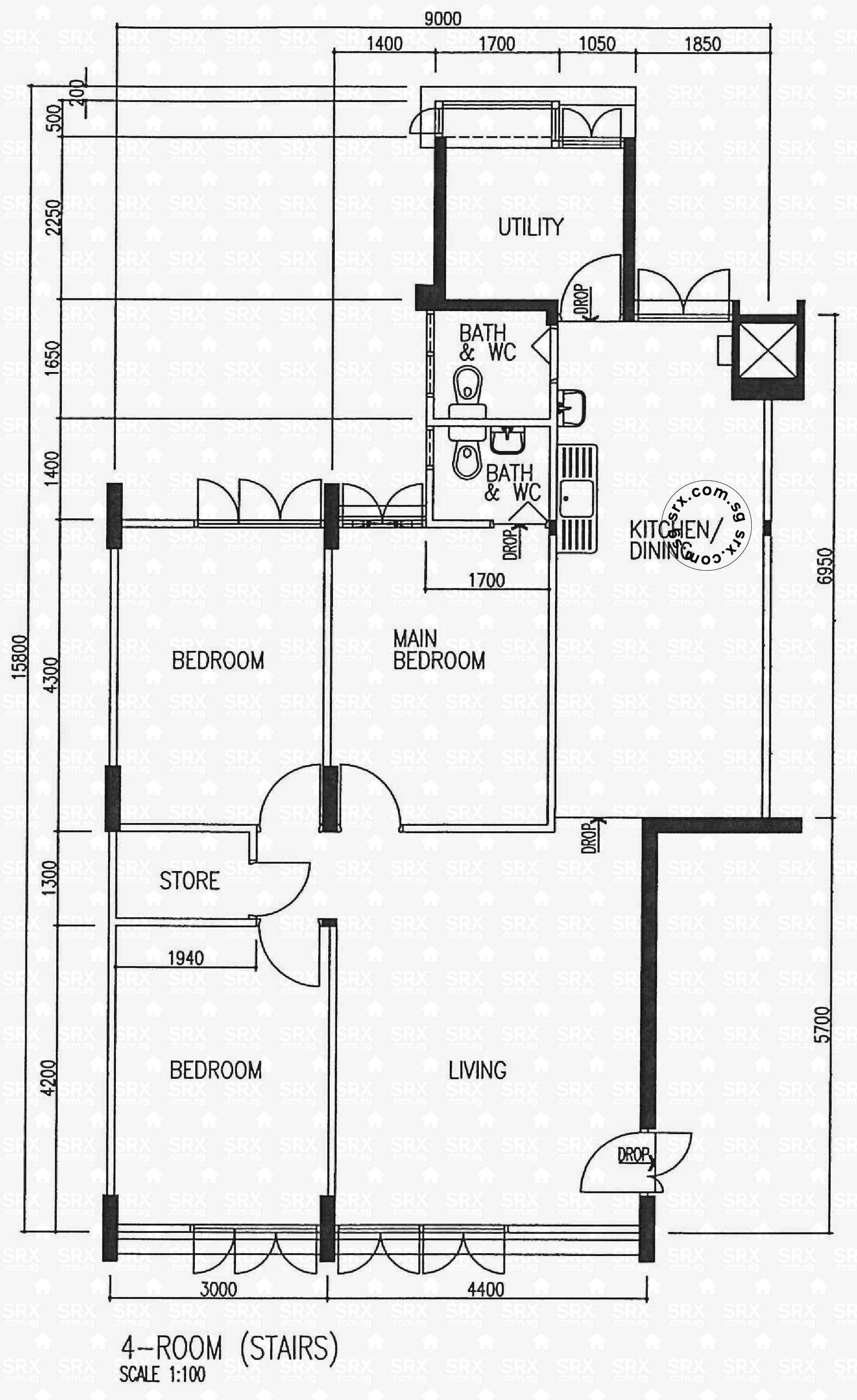 Floor plans for teck whye lane hdb details srx property for View floor plans
