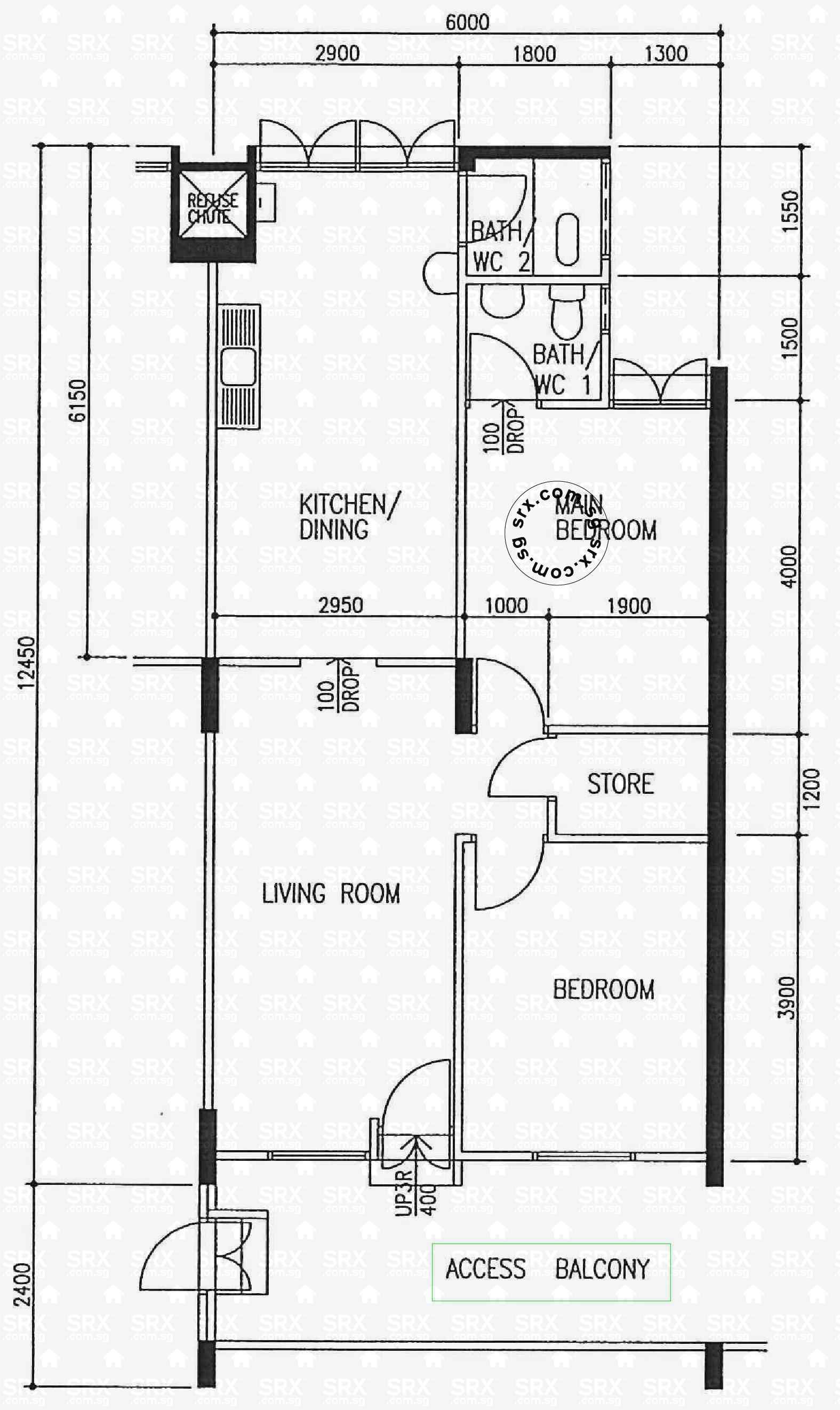 Floor plans for teck whye lane hdb details srx property for 16 brookers lane floor plans