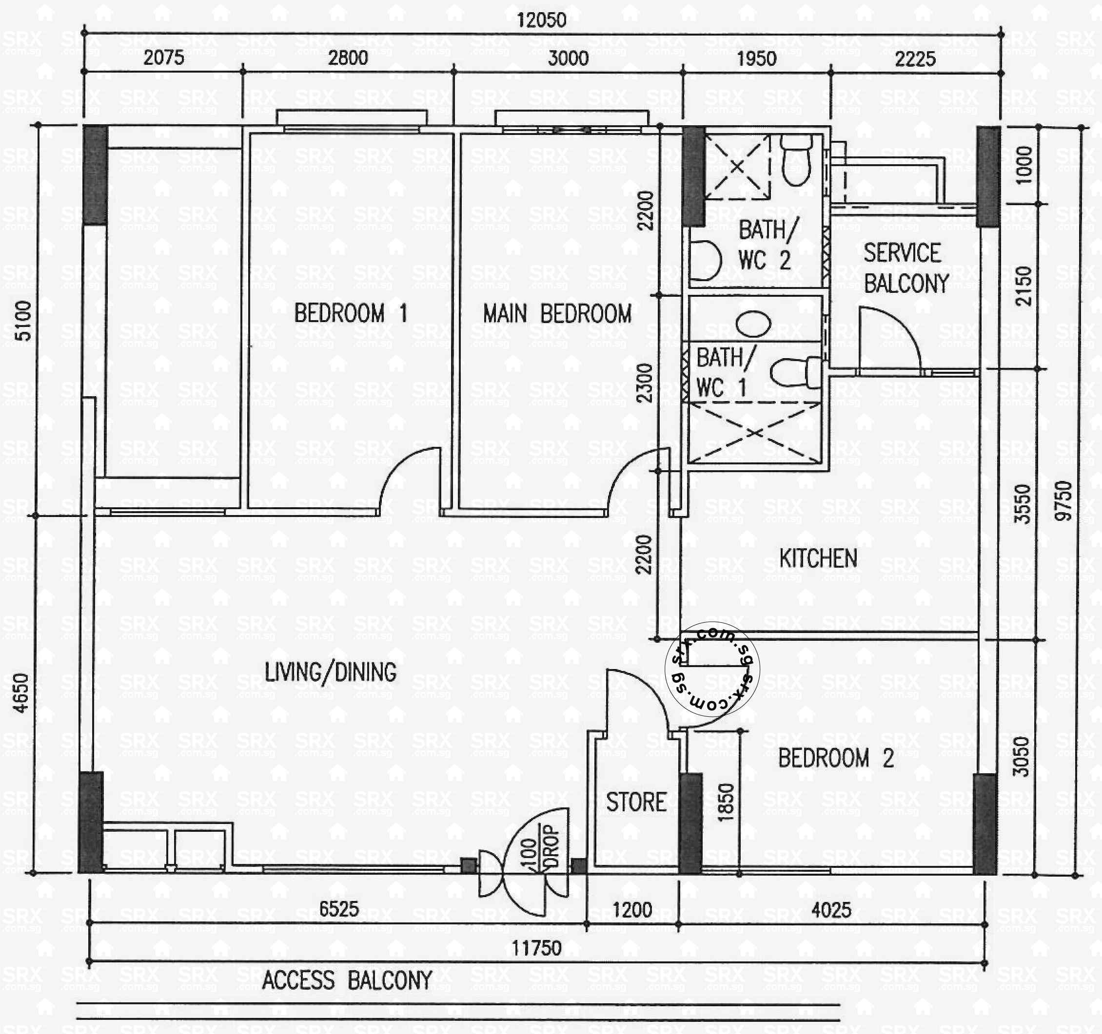 Floor plans for choa chu kang avenue 2 hdb details srx for 126 simcoe floor plan
