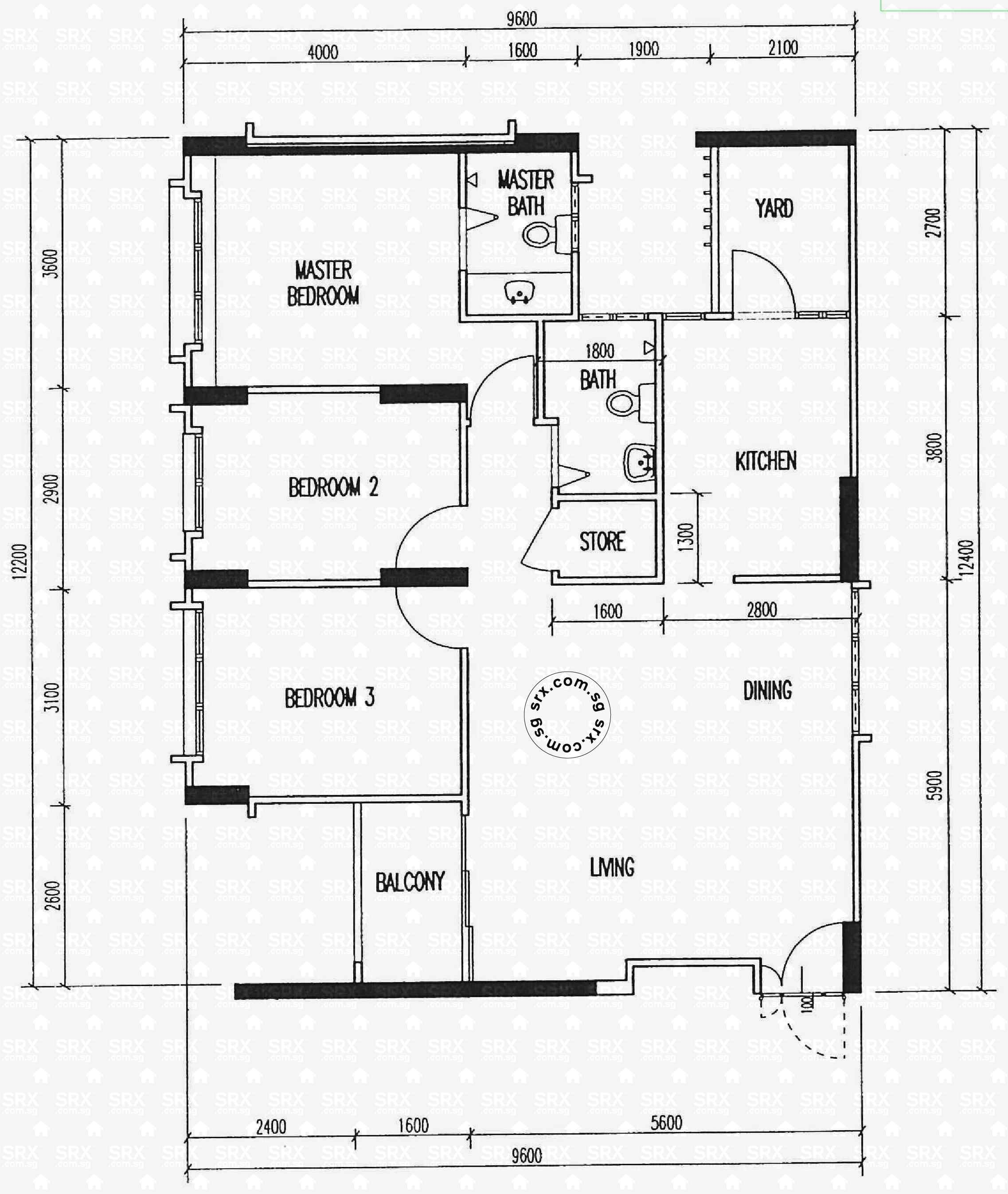 Floor plans for choa chu kang crescent hdb details srx for 521 plan