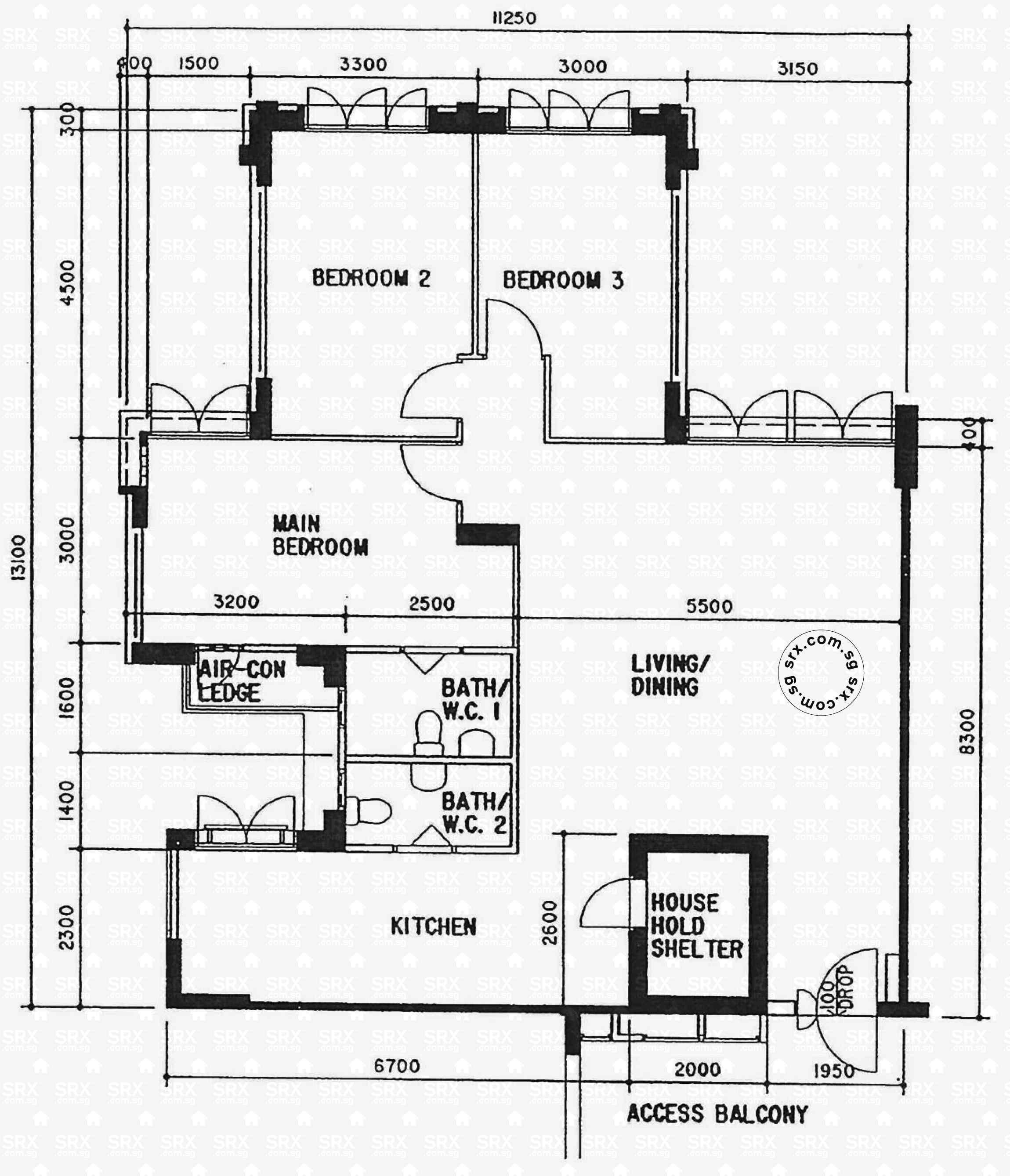 Floor plans for choa chu kang crescent hdb details srx for 1077 marinaside crescent floor plan