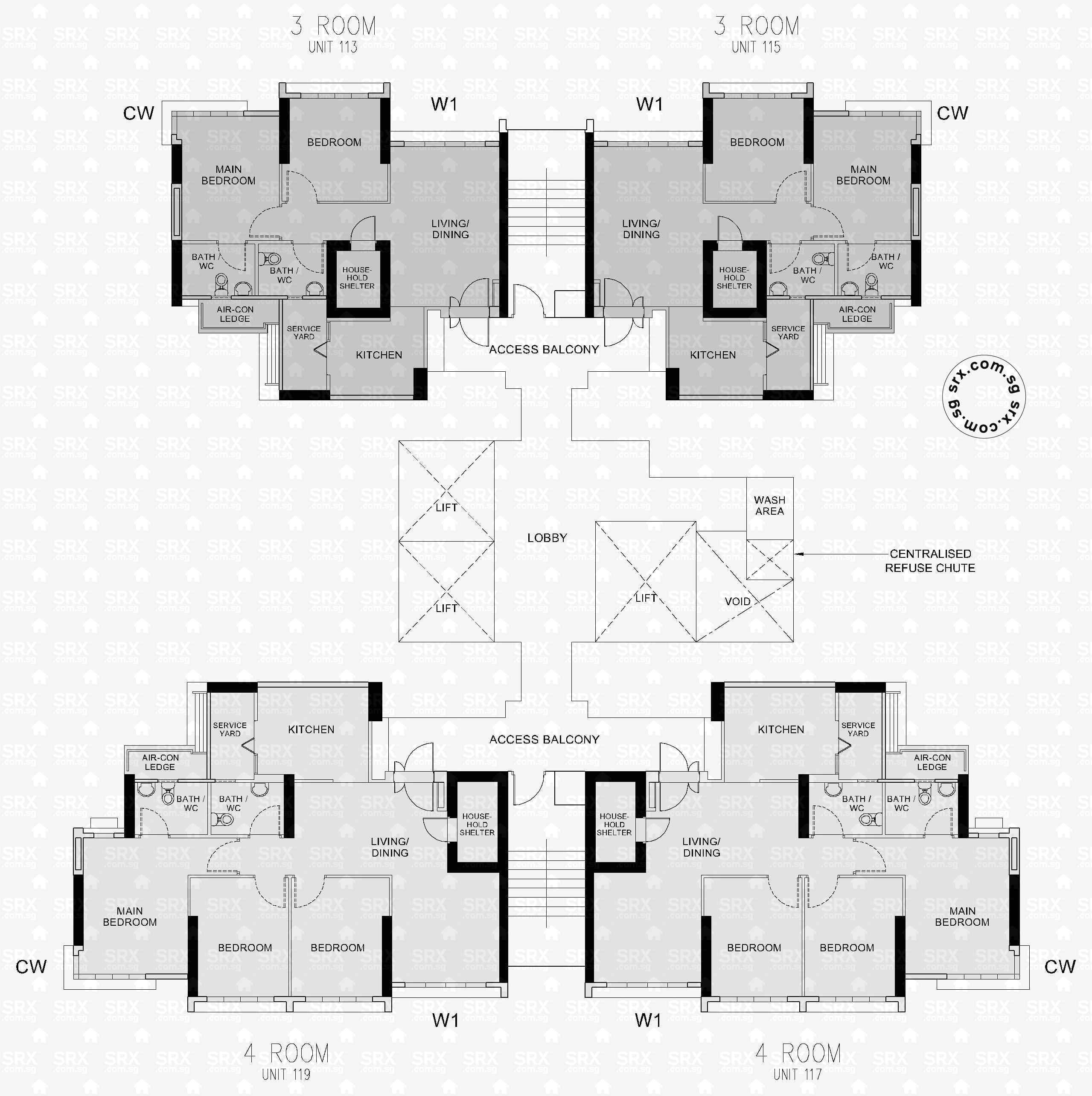 clementi avenue  hdb details  srx property - blk a floor  (actual)
