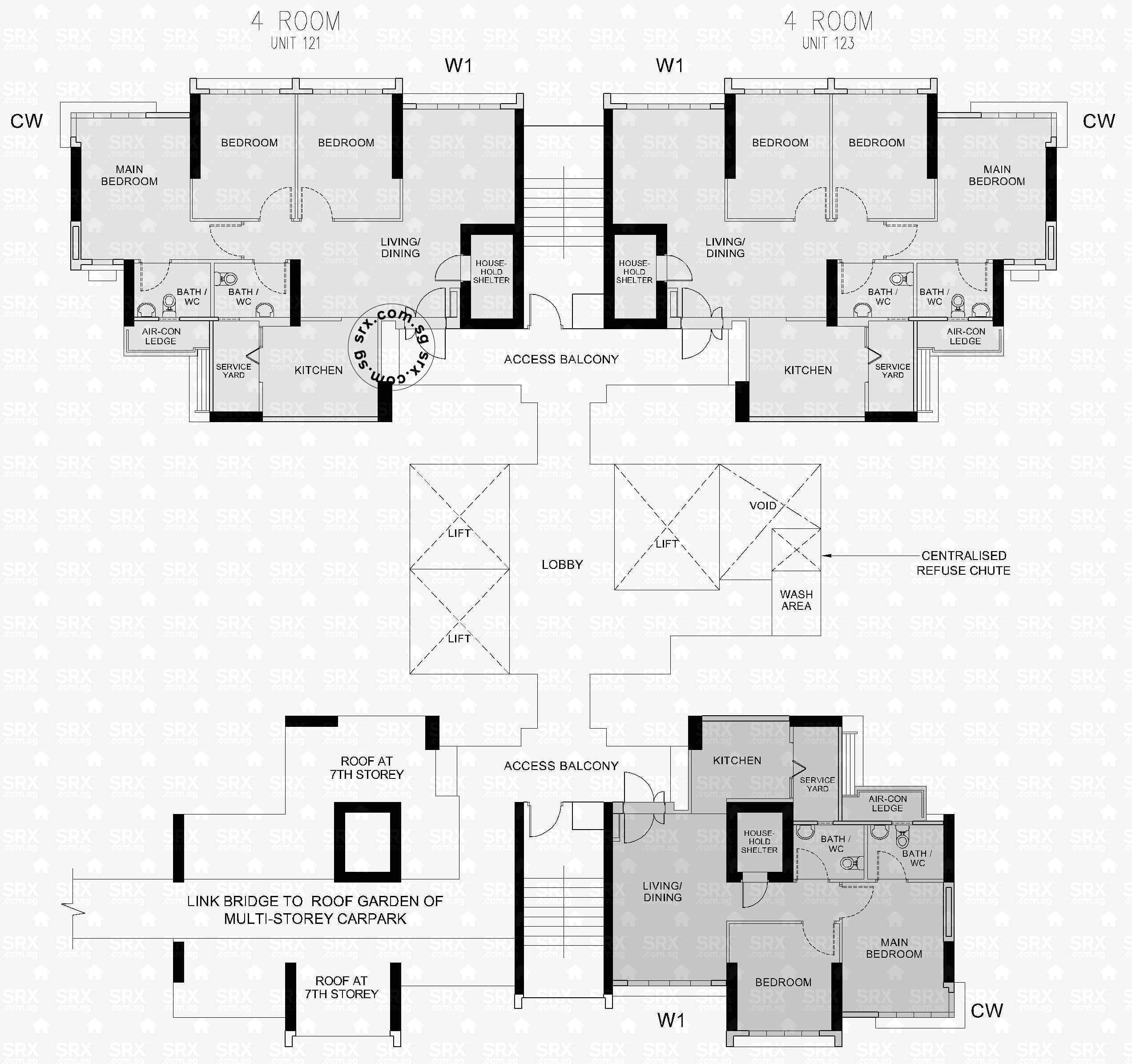 clementi avenue  hdb details  srx property - clementi avenue  floor plan image