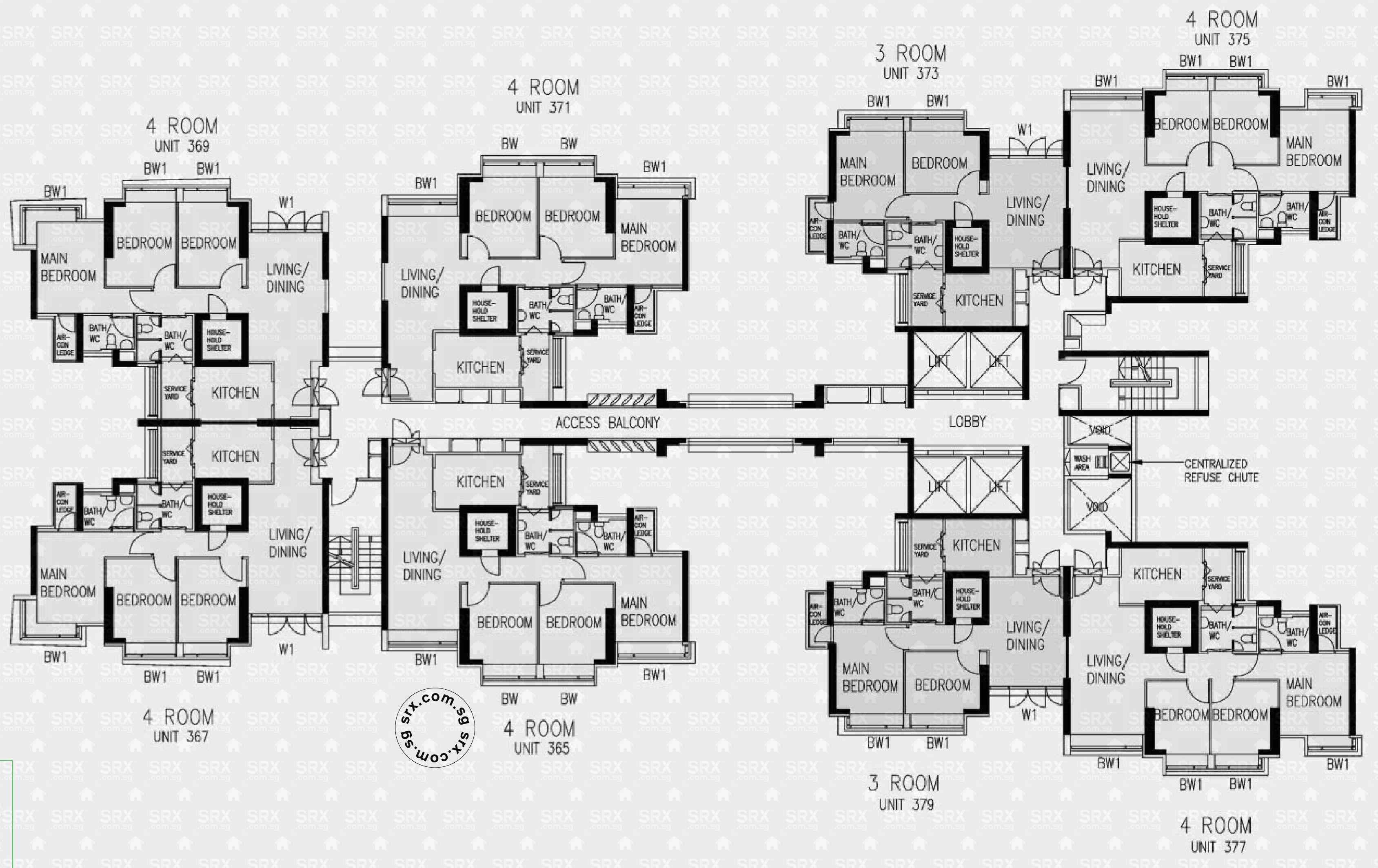 Floor Plans for Clementi Avenue 1 HDB Details | SRX Property