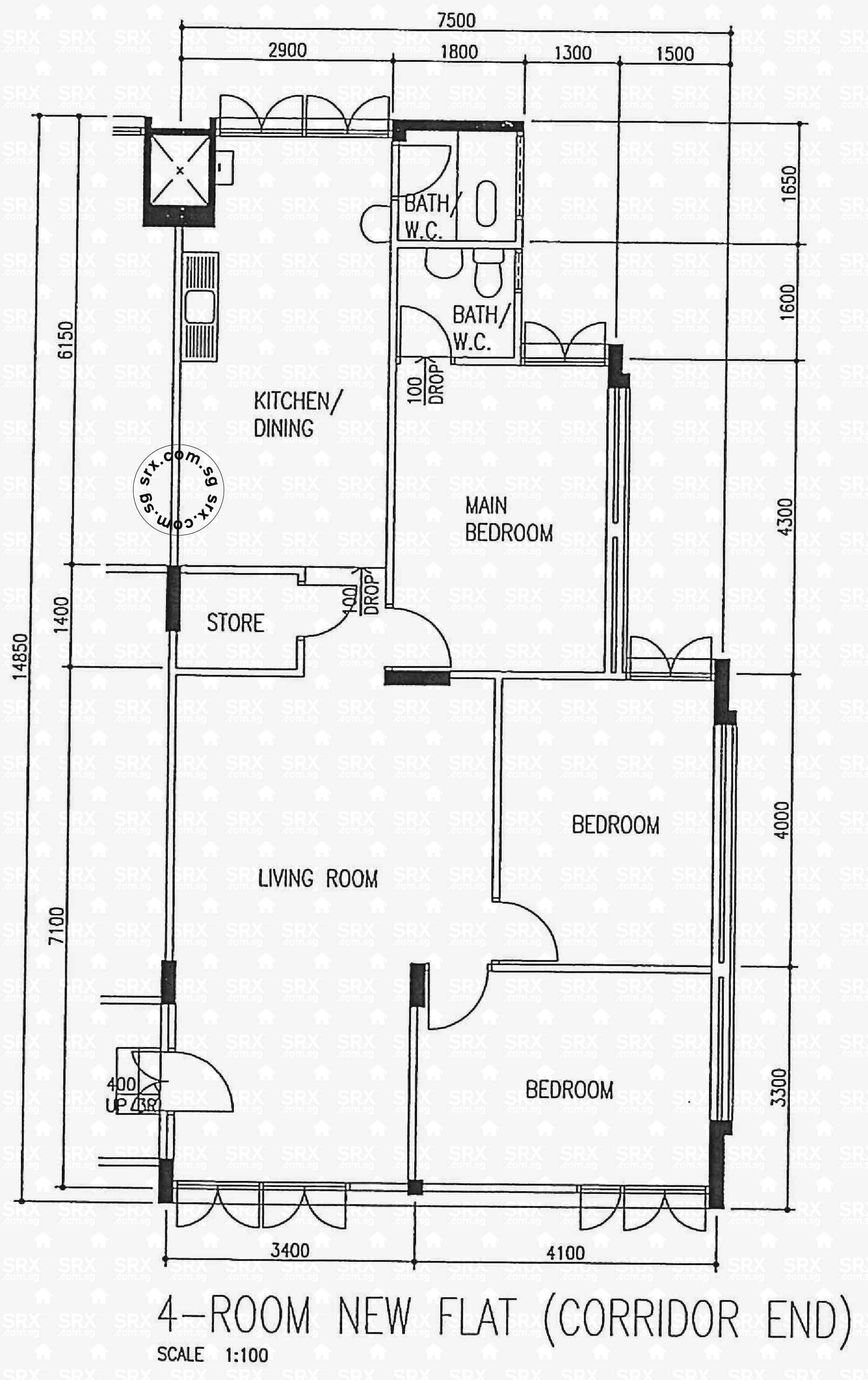 Floor Plans for 710 Clementi West Street 2 (S)120710 HDB Details ...