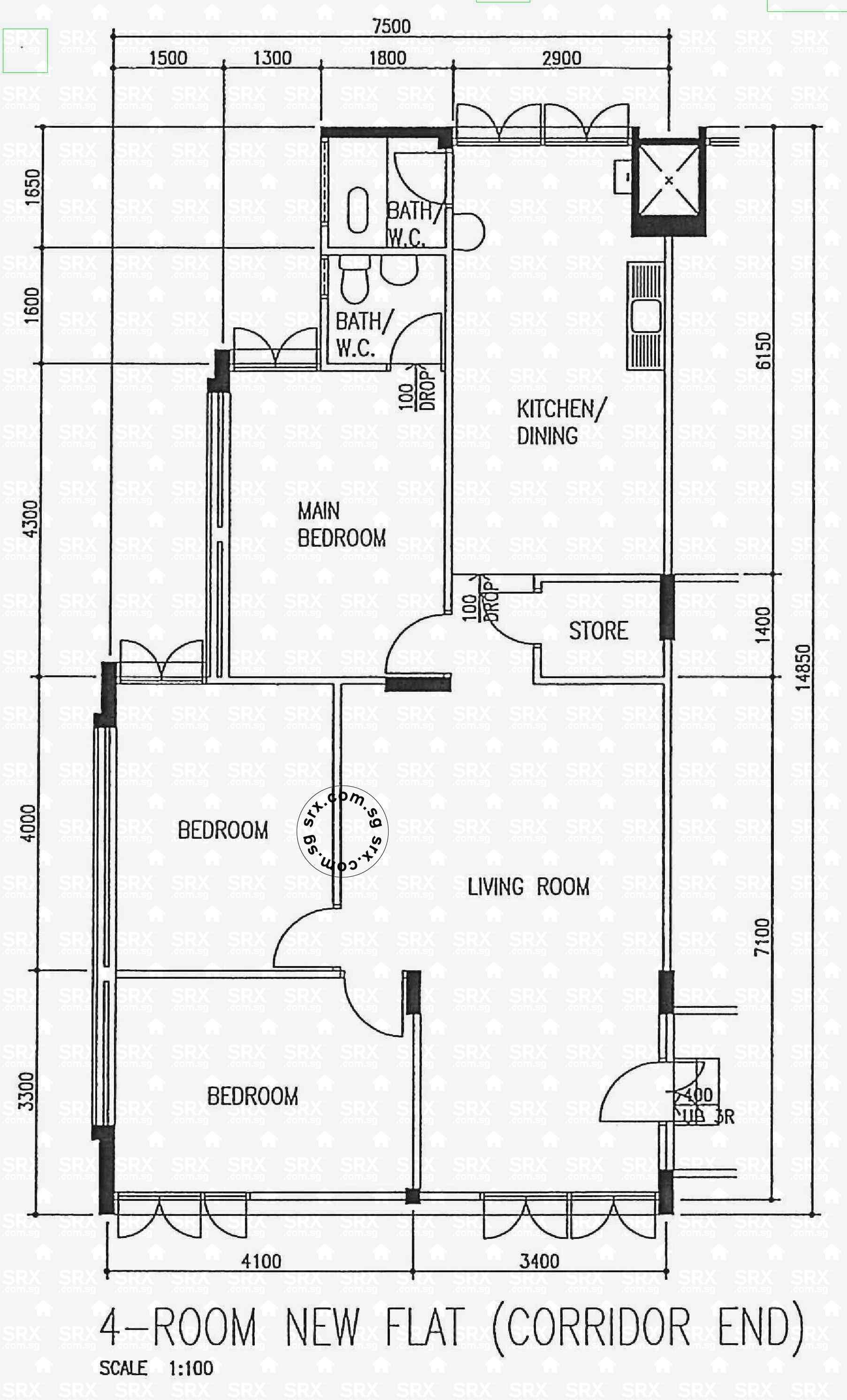 82+ 4 Room Flat Floor Plan - 4 Room Flat Floor Plan Gallery Design ...