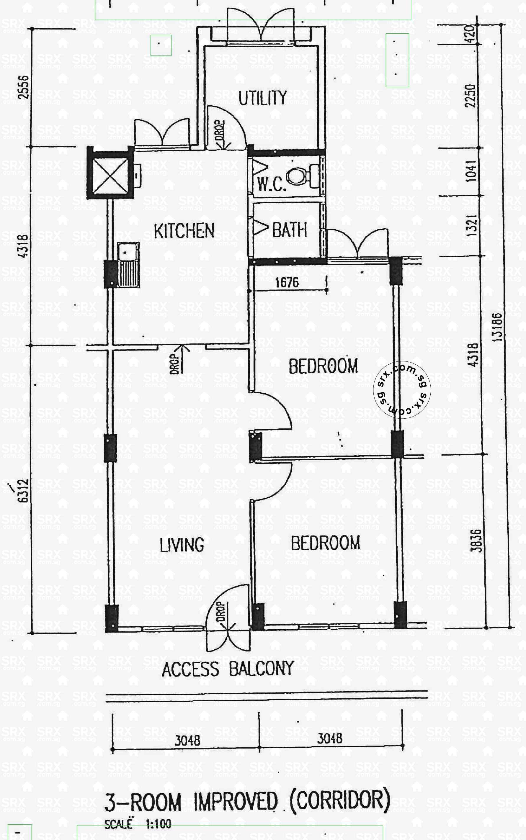 Floor plans for eunos crescent hdb details srx property for 1077 marinaside crescent floor plan