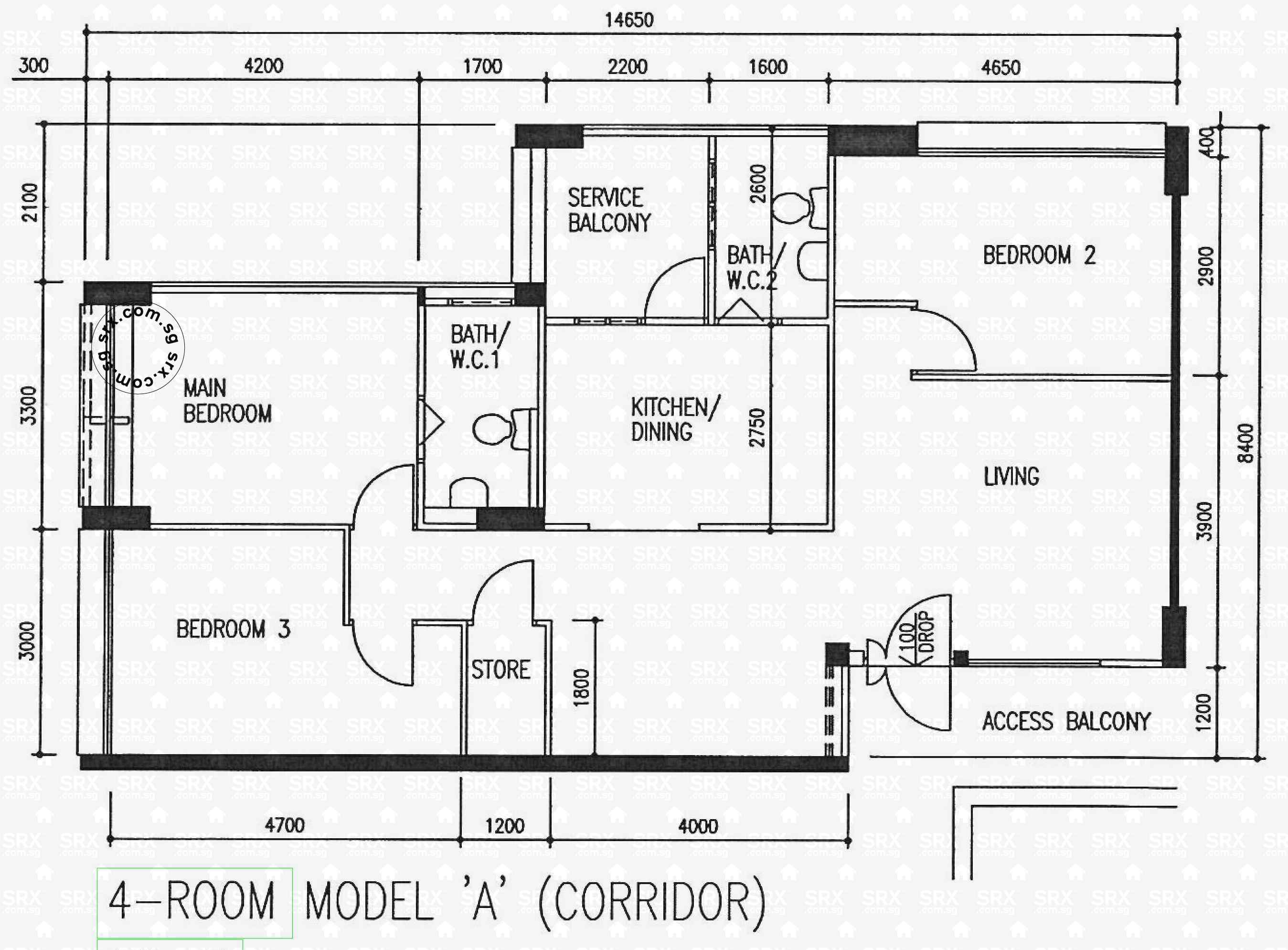 Cassia crescent hdb details srx property 4 room floor plan