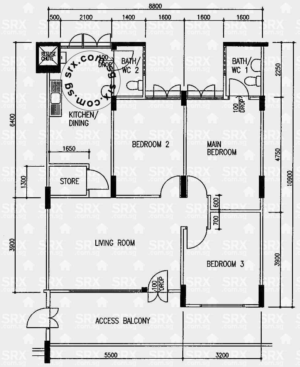 hougang avenue  (s) hdb details  srx property - blk  hougang avenue  (s) floor plan image
