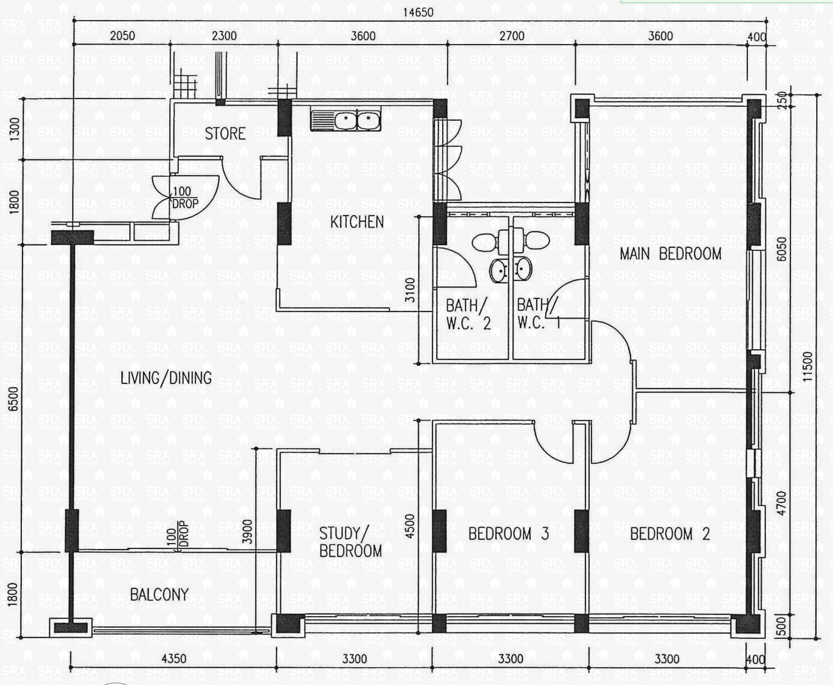 564 hougang street 51 s 530564 hdb details srx property for Plan 51