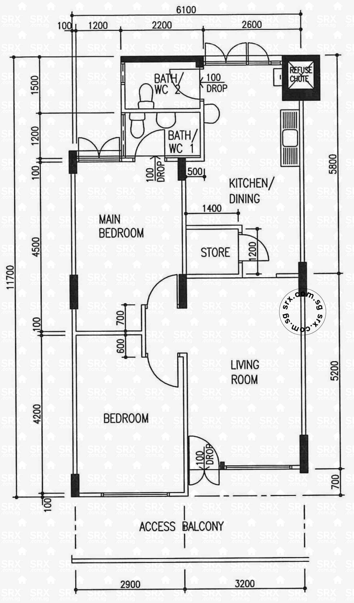 Hougang avenue 8 hdb details srx property for Floor plans for units