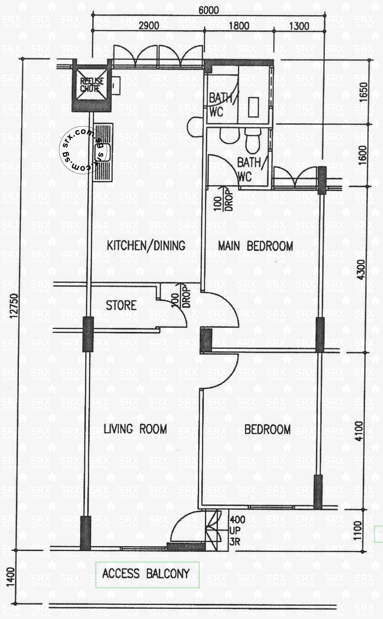 3 room flat floor plan hdb thefloors co for 3 room flat floor plan