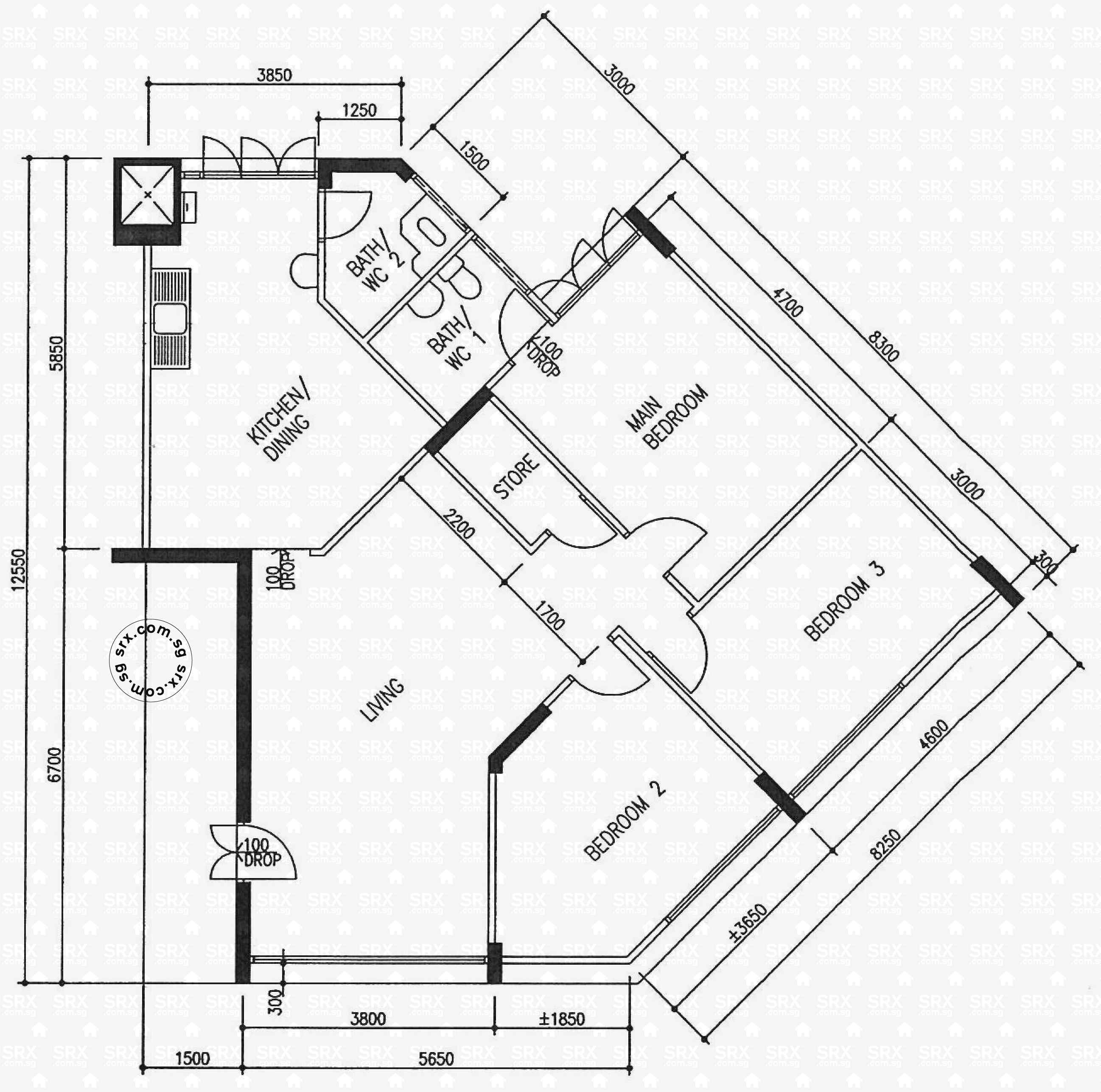 Floor plans for jurong west street 42 hdb details srx for 521 plan