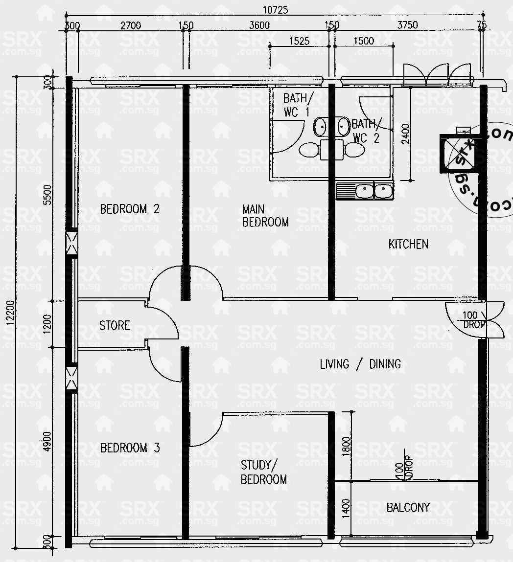 Floor plans for pasir ris drive 6 hdb details srx property for 509 plans