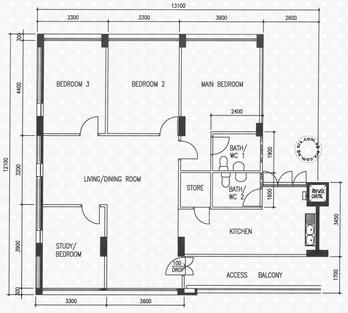 Blk 117 Pasir Ris Street 11 (Pasir Ris), HDB 4 Rooms #1006002