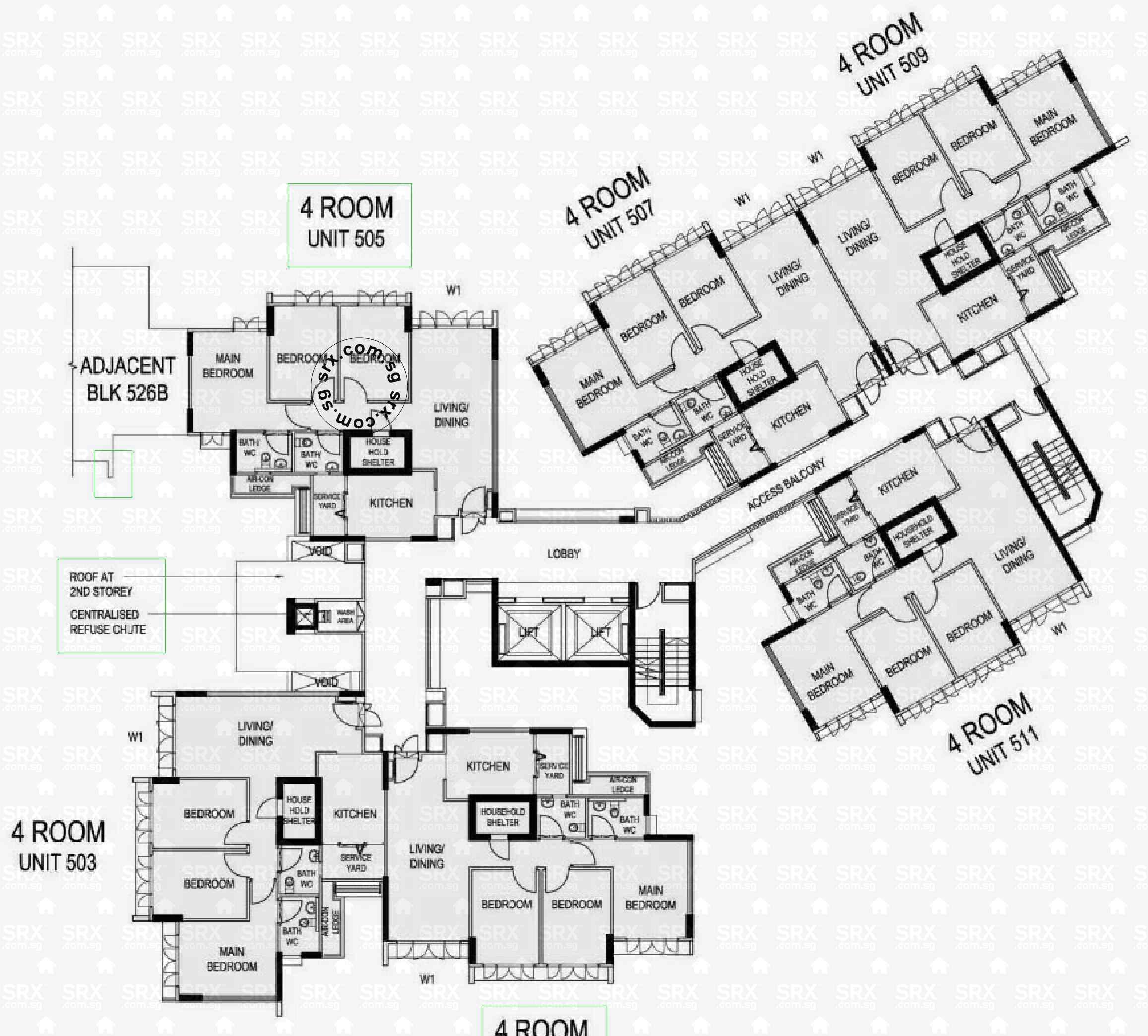 Floor Plans For 526a Pasir Ris Street 51 S 511526 Hdb