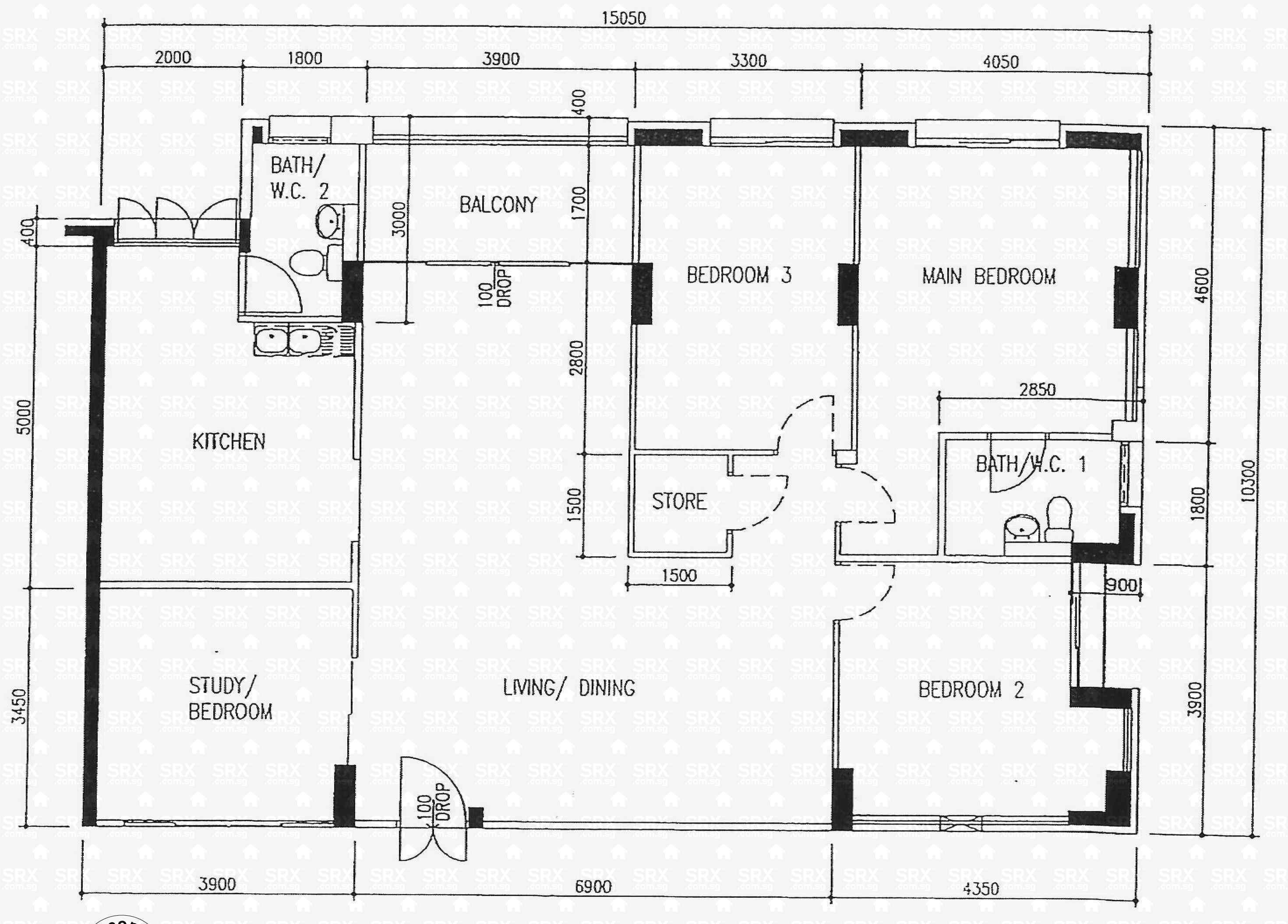 Floor plans for 239 pasir ris street 21 s 510239 hdb for 509 plans