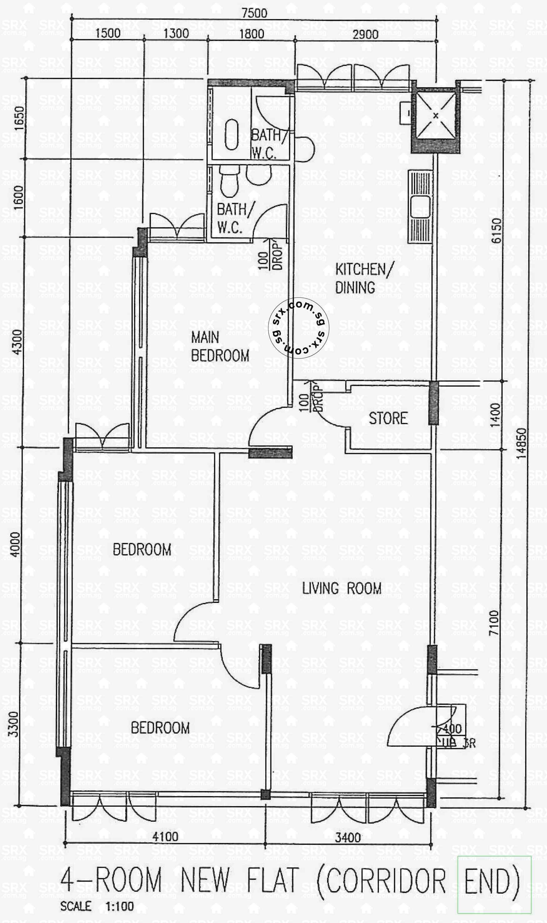 Floor plans for dover crescent hdb details srx property for 1077 marinaside crescent floor plan