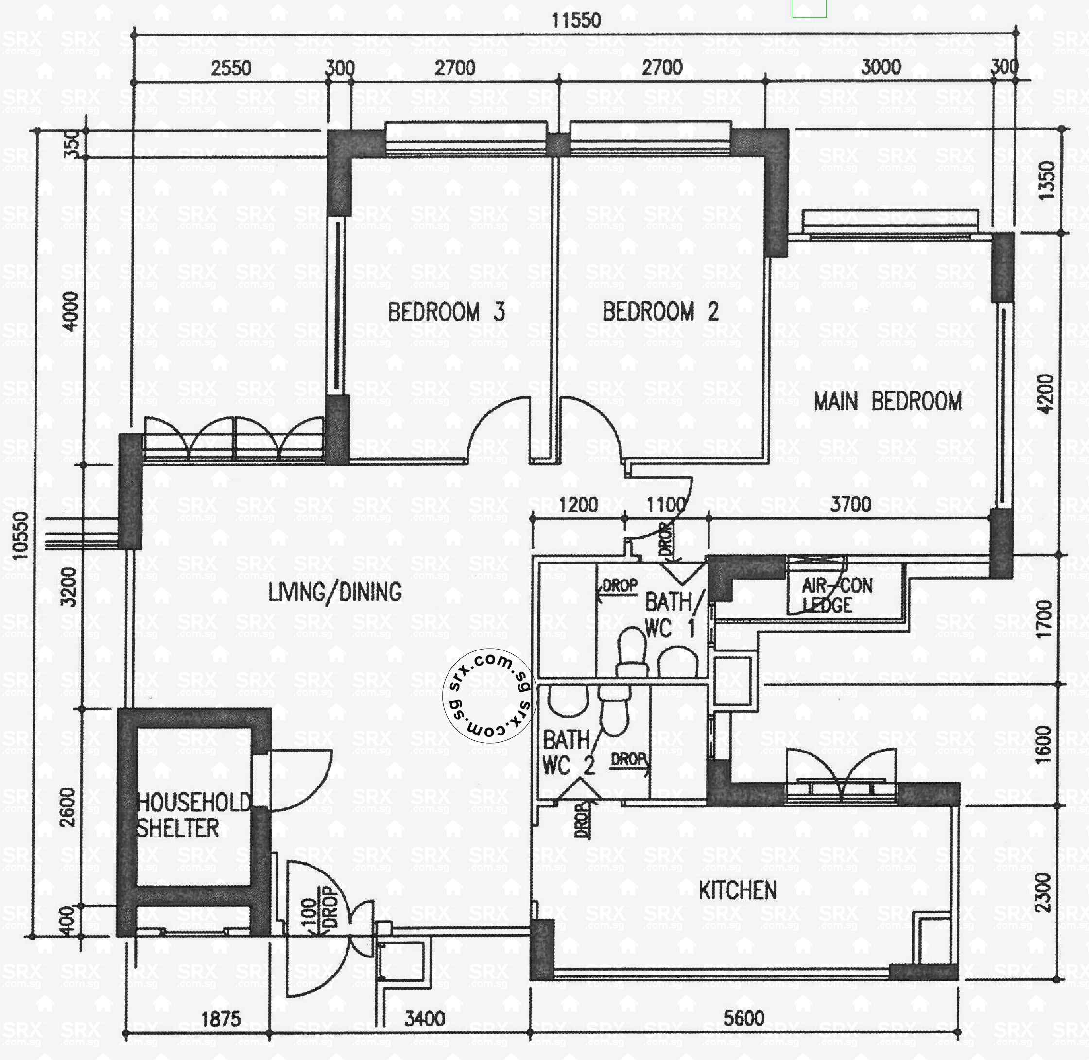 Wellington circle hdb details srx property Circle house plans