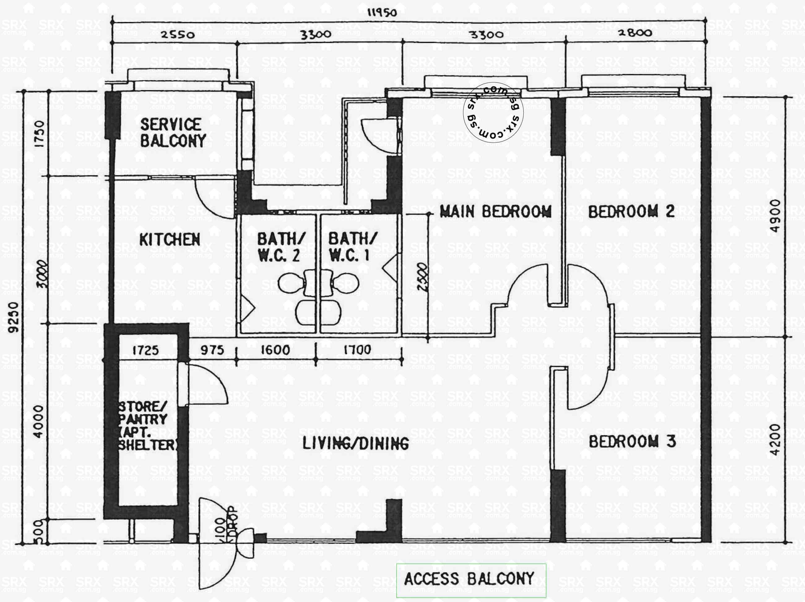 Sembawang crescent hdb details srx property for 1077 marinaside crescent floor plan