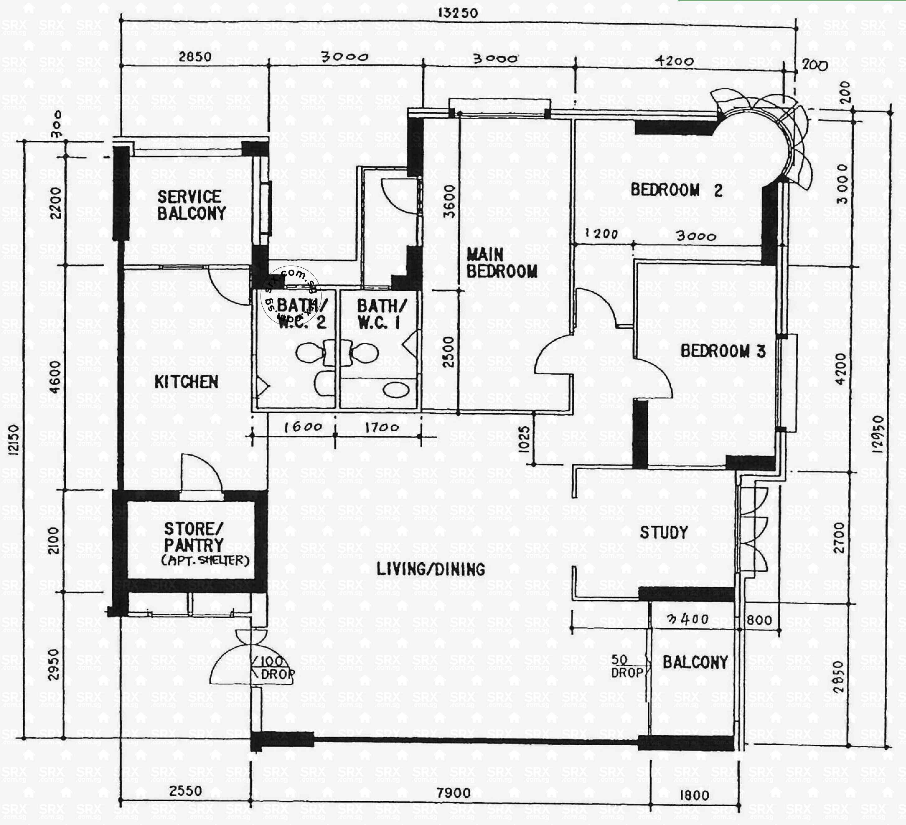 1 West Street Floor Plans