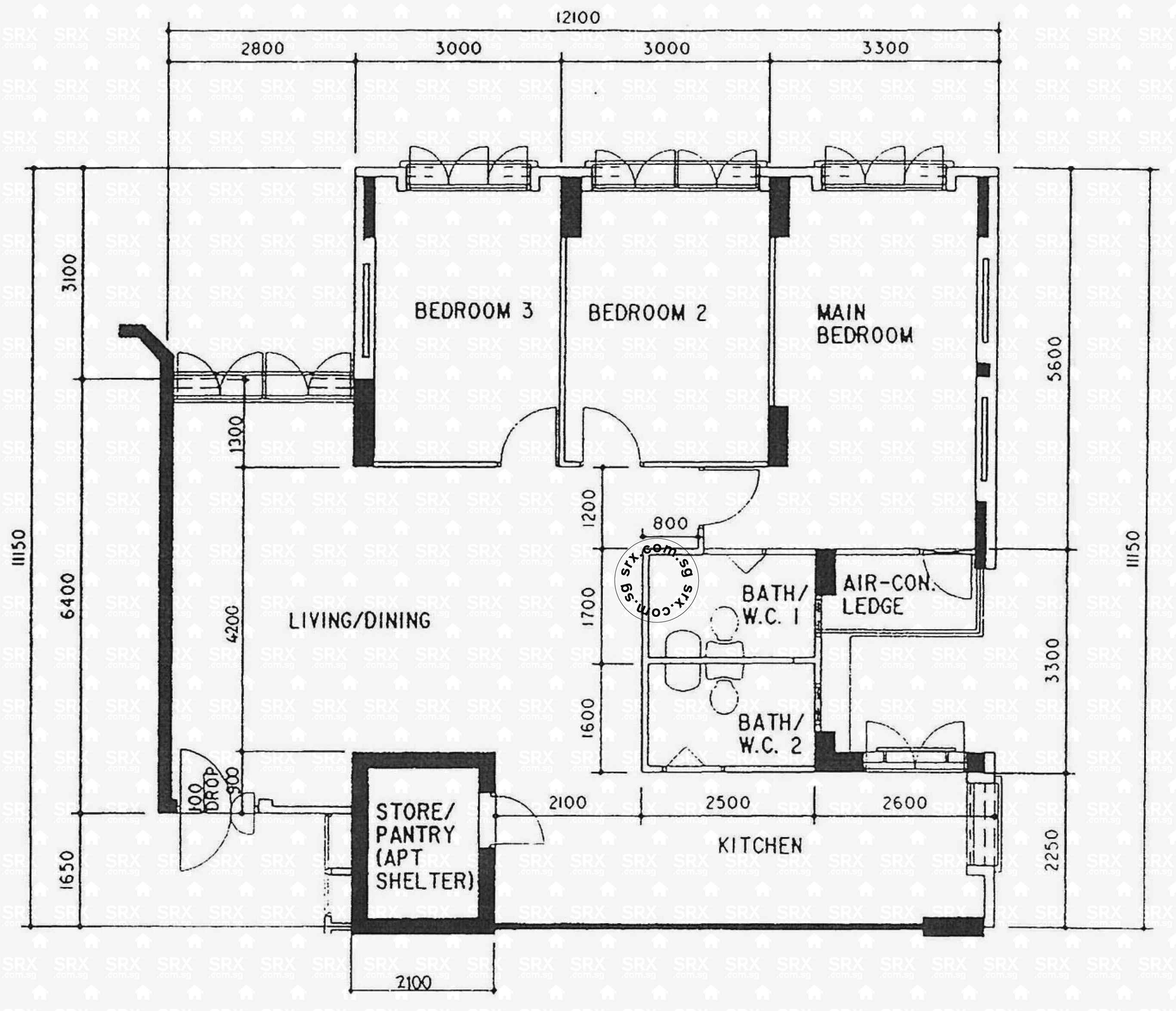 Floor Plans For Canberra Road Hdb Details Srx Property Schematic Levellvl 06